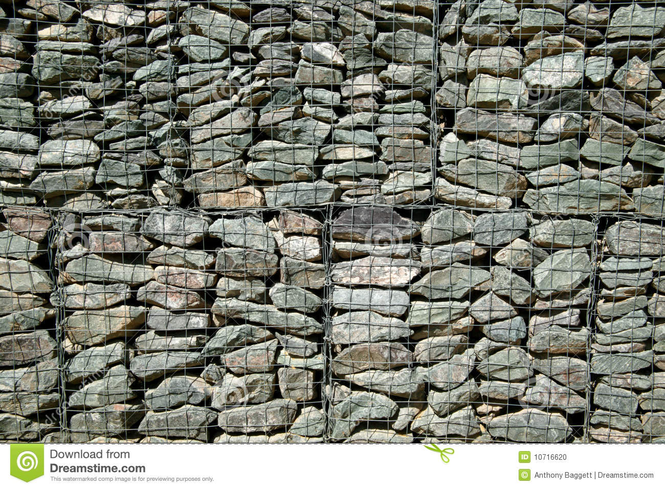 fond de mur de gabion photo stock image 10716620. Black Bedroom Furniture Sets. Home Design Ideas
