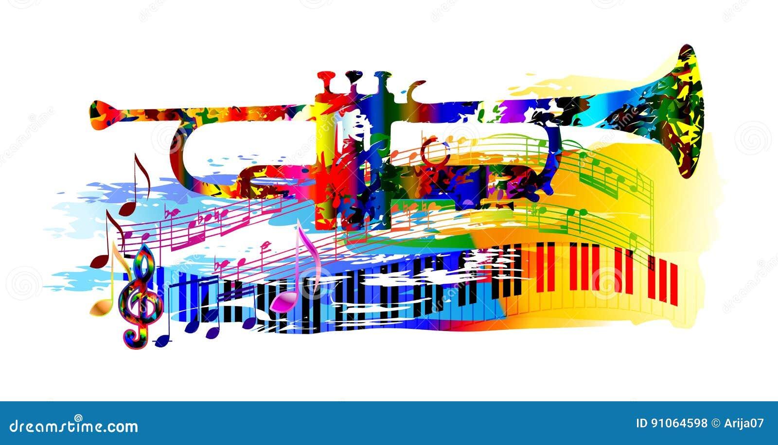 Fond de musique avec la trompette