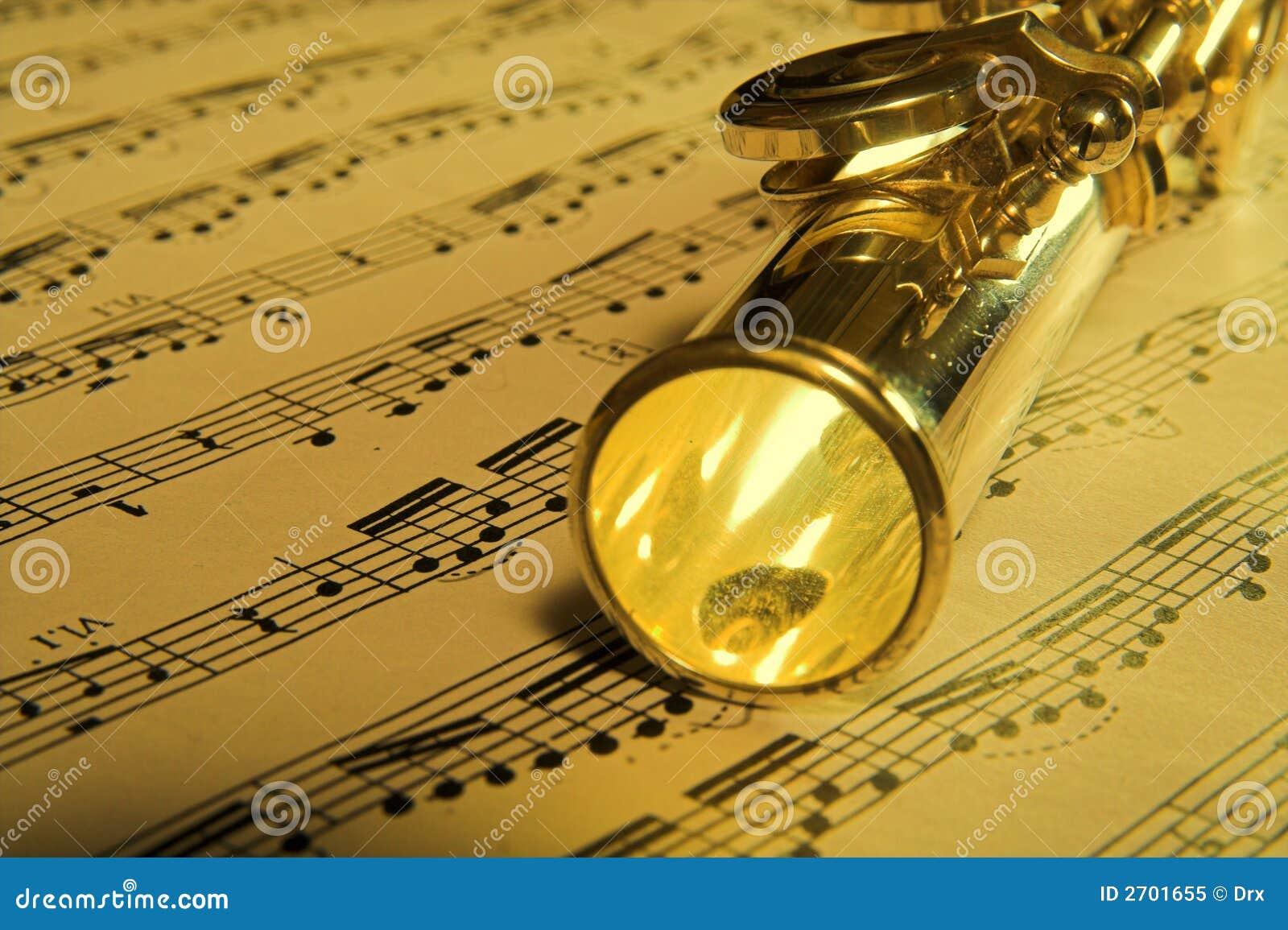 Fond de musique de cannelure d or