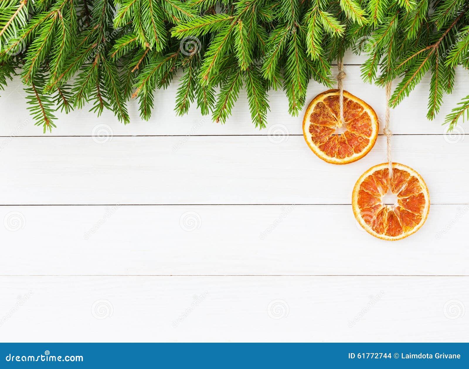 Fond De No L Arbre De Sapin De No L Avec La D Coration Orange Sur Le