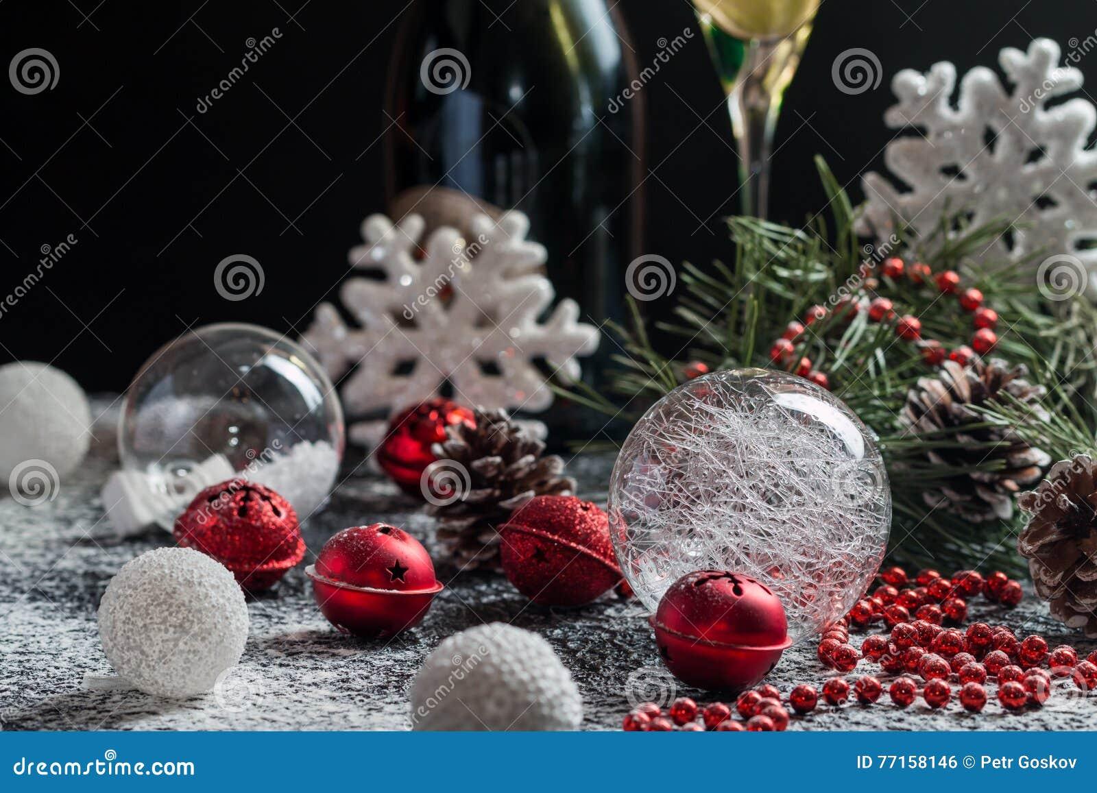 Fond de Noël avec la décoration de fête