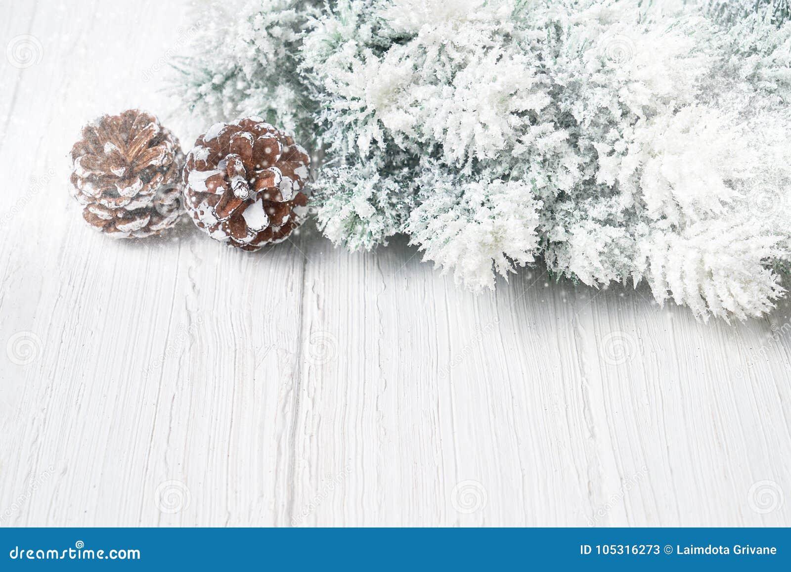 Branche D Arbre Sapin De Noel fond de noël blanc branches d'arbre de sapin de noël avec la