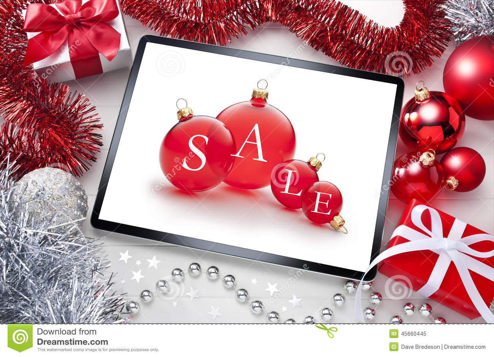 Fond de Noël de vente de Tablette