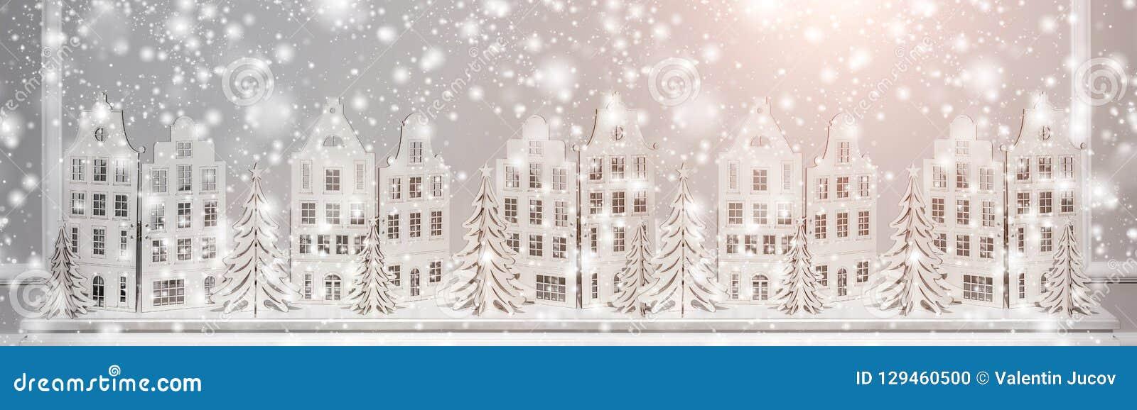Fond de Noël des décorations de papier Composition en Noël et en bonne année