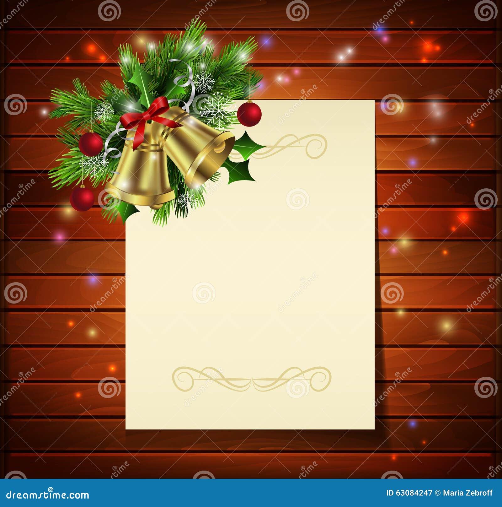 Download Fond de Noël sur le bois illustration stock. Illustration du remplissage - 63084247