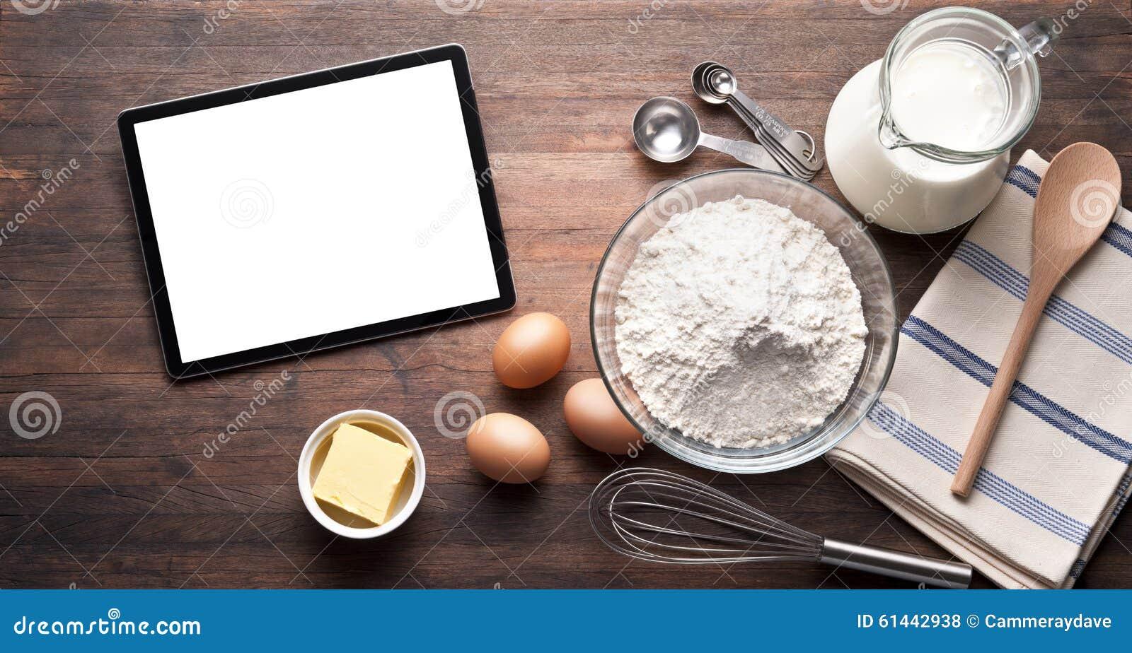 Fond de nourriture de cuisson de Tablette