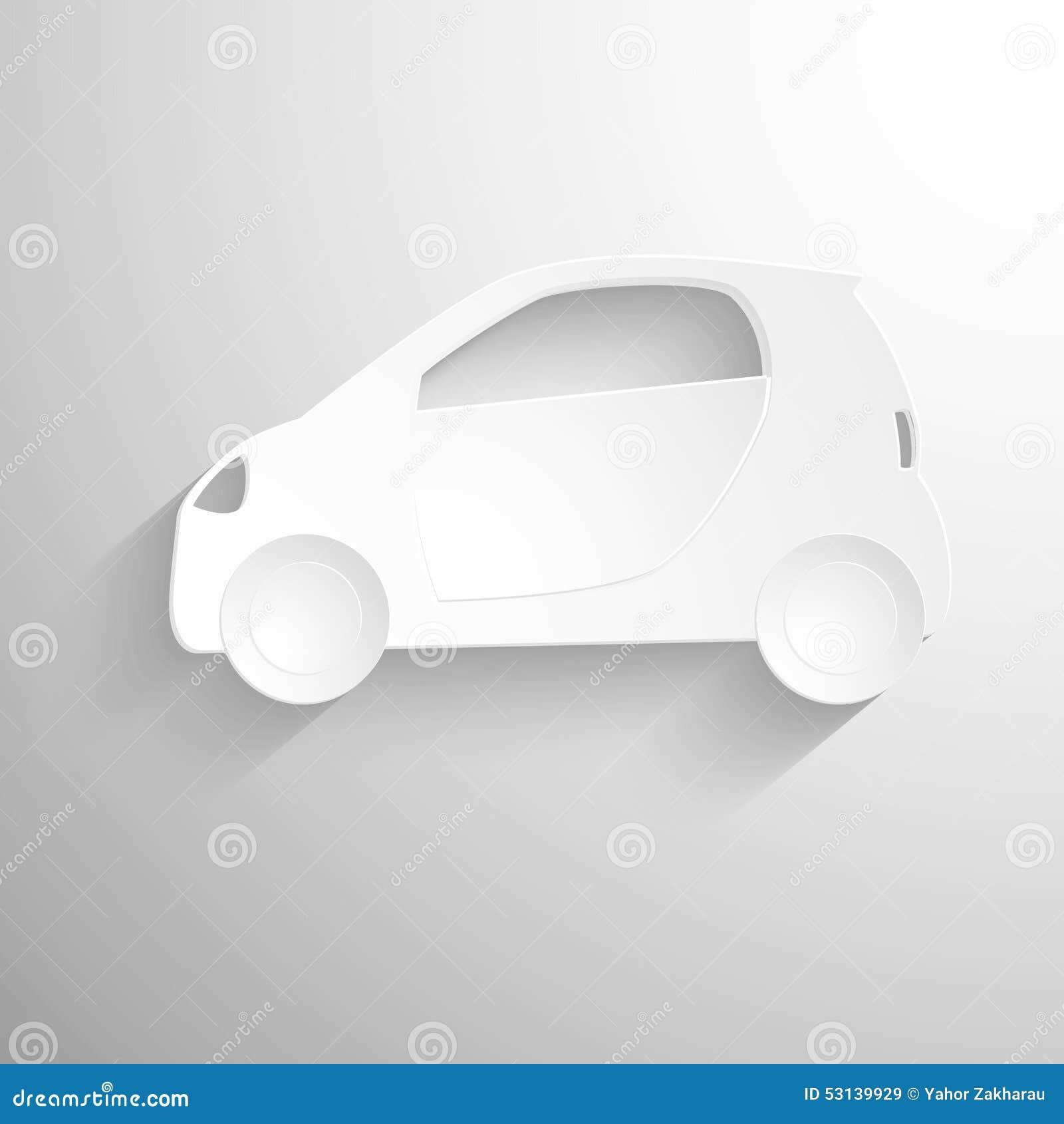 fond de papier de coupe circuit ic ne blanche de signe de voiture illustration stock. Black Bedroom Furniture Sets. Home Design Ideas