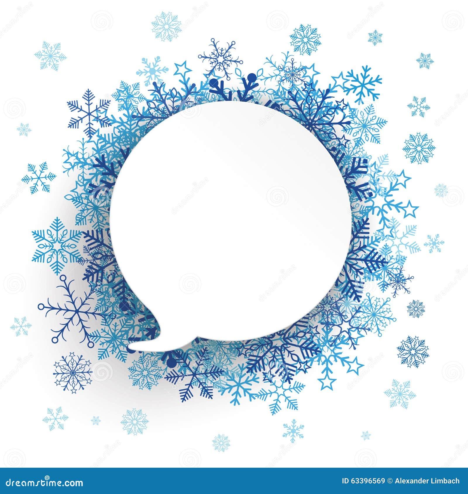 Fond de papier de flocons de neige de bulle de la parole illustration de vecteur image 63396569 - Flocons de neige en papier ...