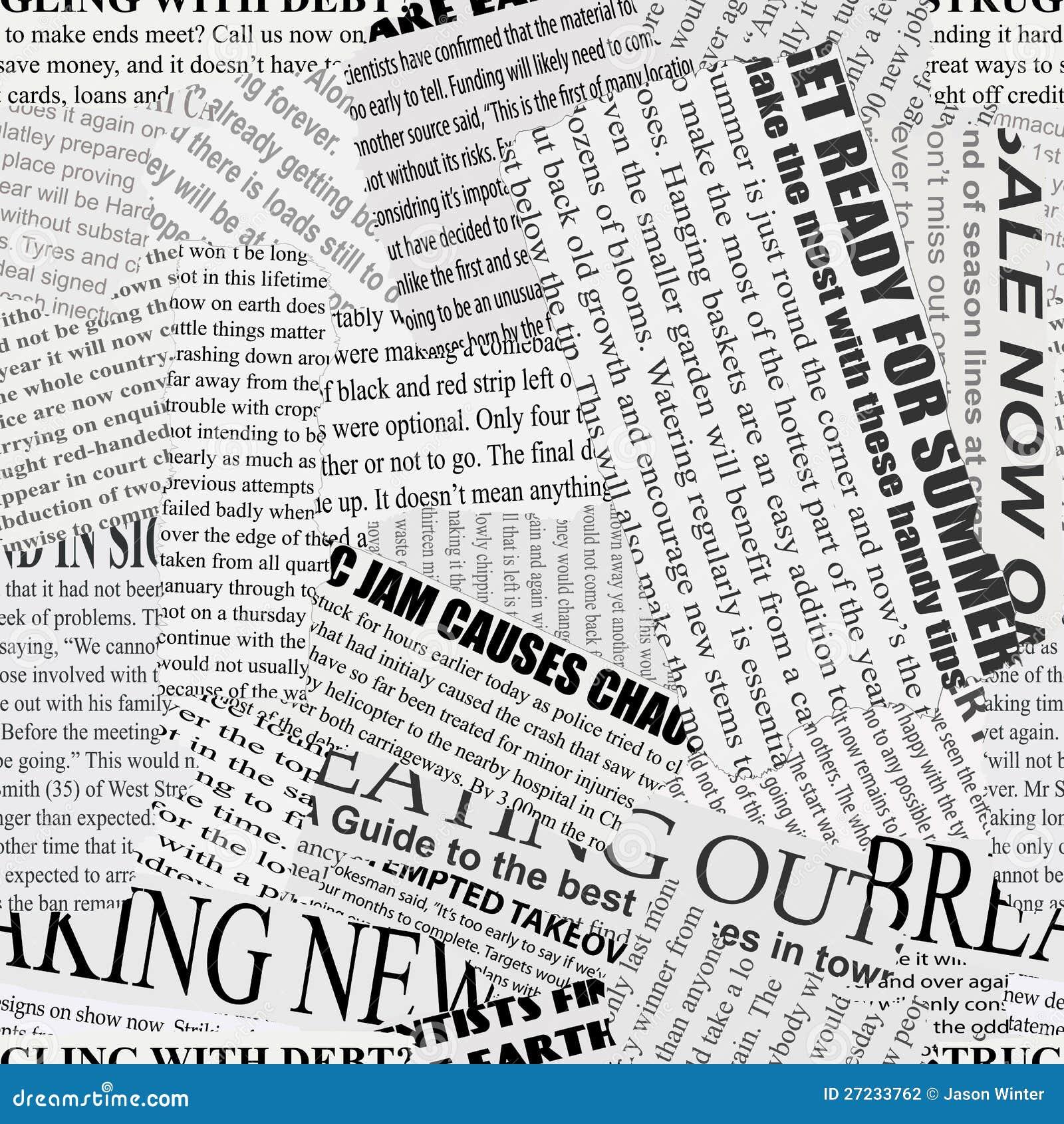Bien-aimé Fond De Papier Journal Photographie stock - Image: 27233762 WS32