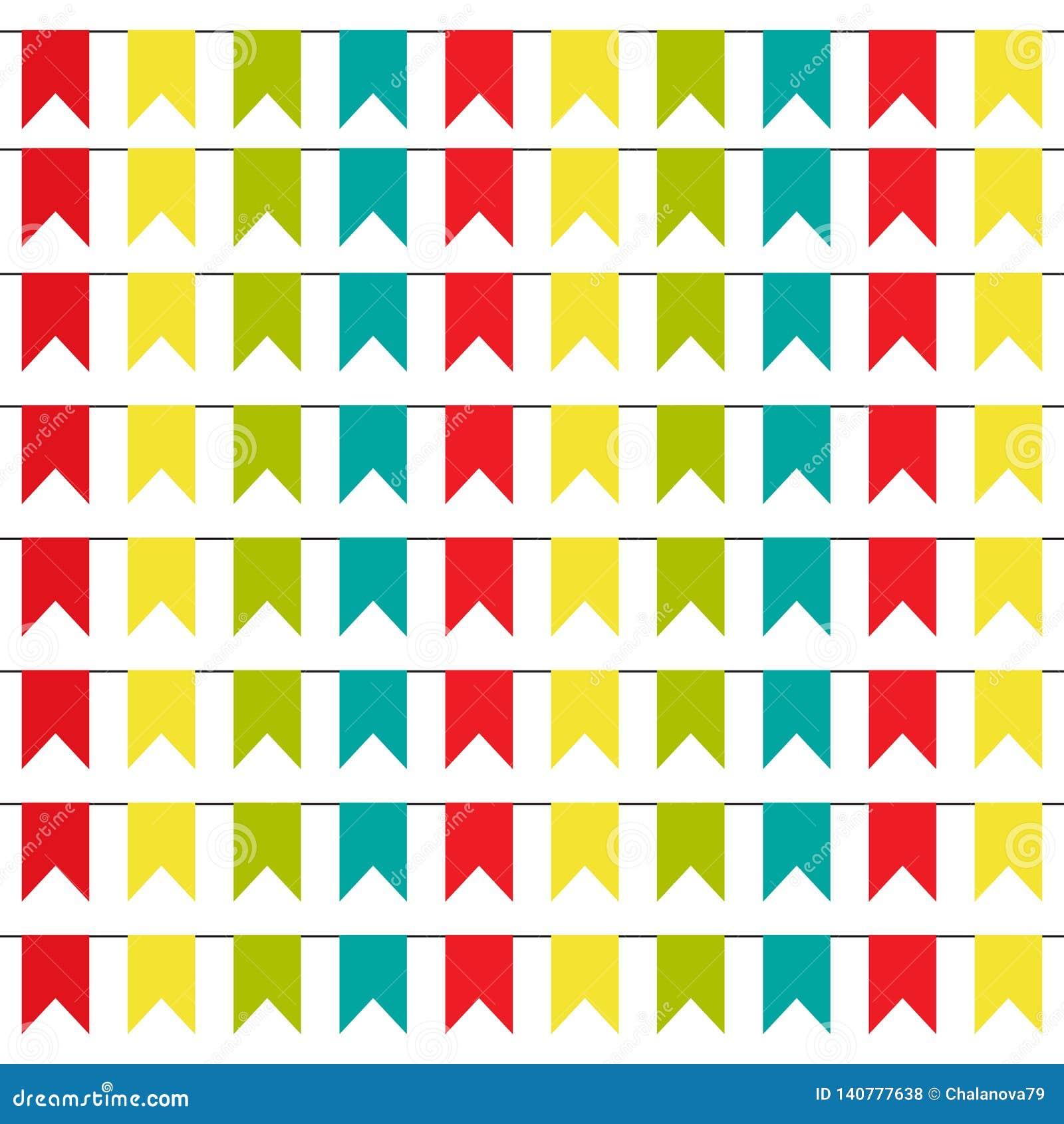 Fond de partie avec l illustration colorée de vecteur de drapeaux ENV 10