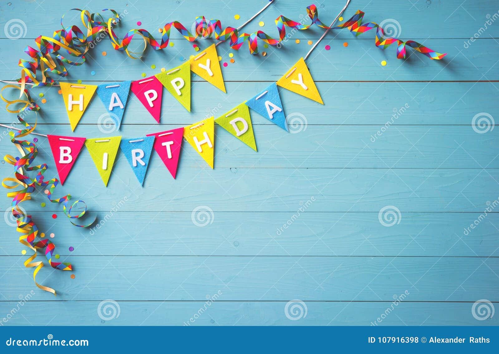Fond De Partie De Joyeux Anniversaire Avec Le Texte Et Les Outils Colores Photo Stock Image Du Partie Avec 107916398