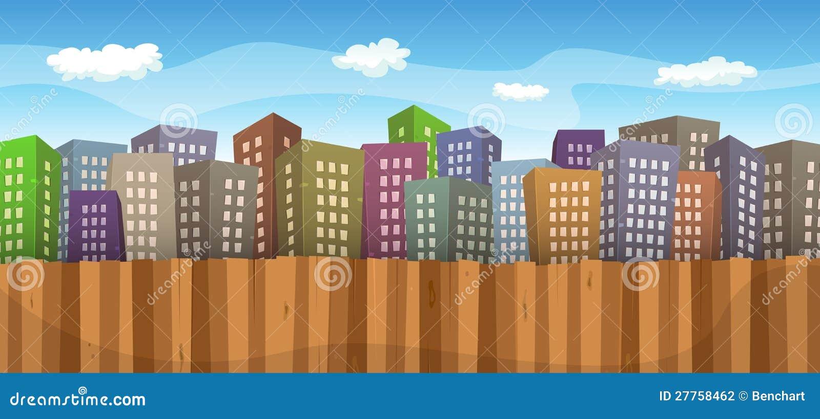 Fond de paysage urbain d été ou de source