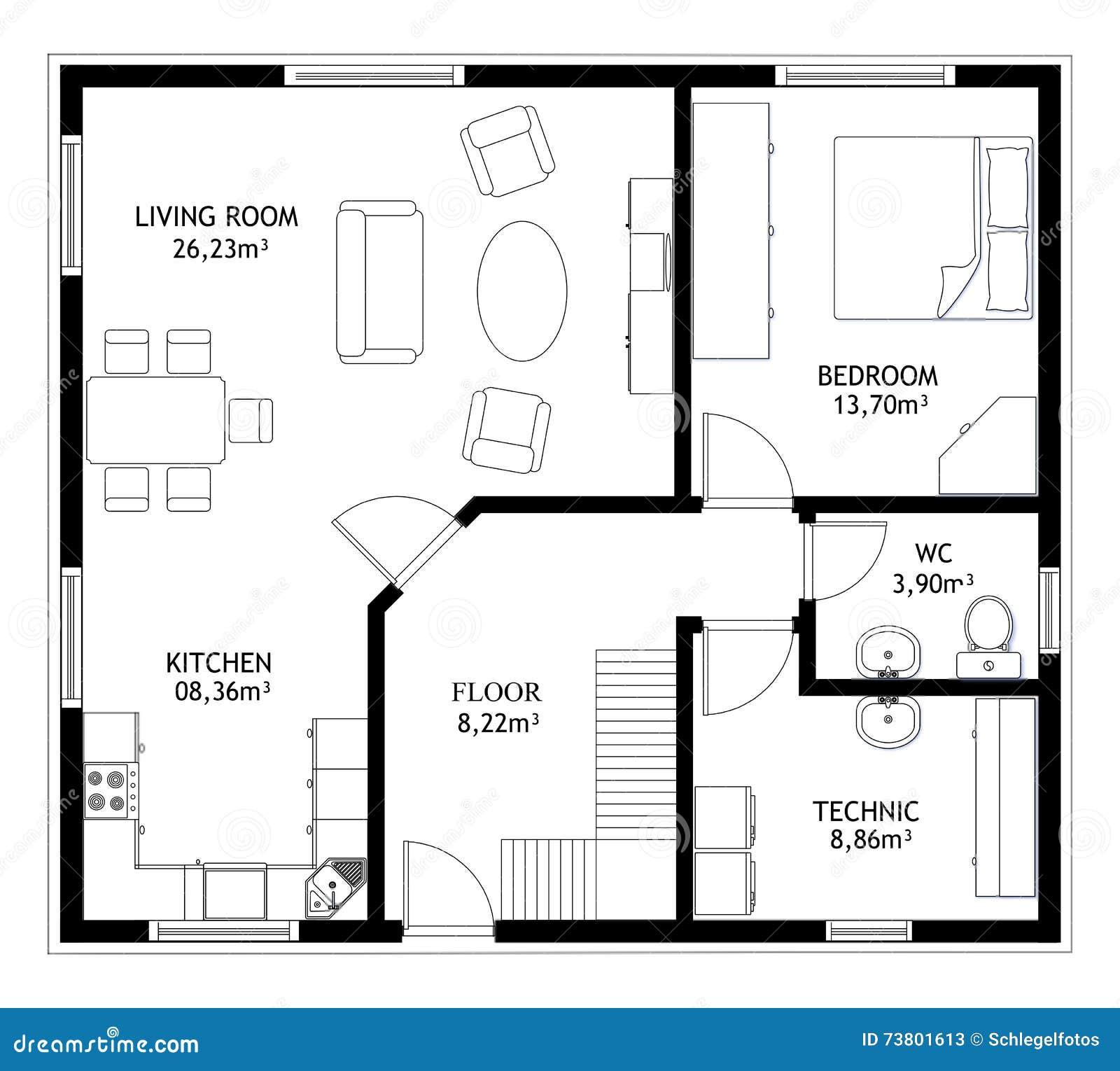 Plan dessin for Plan de construction de maison