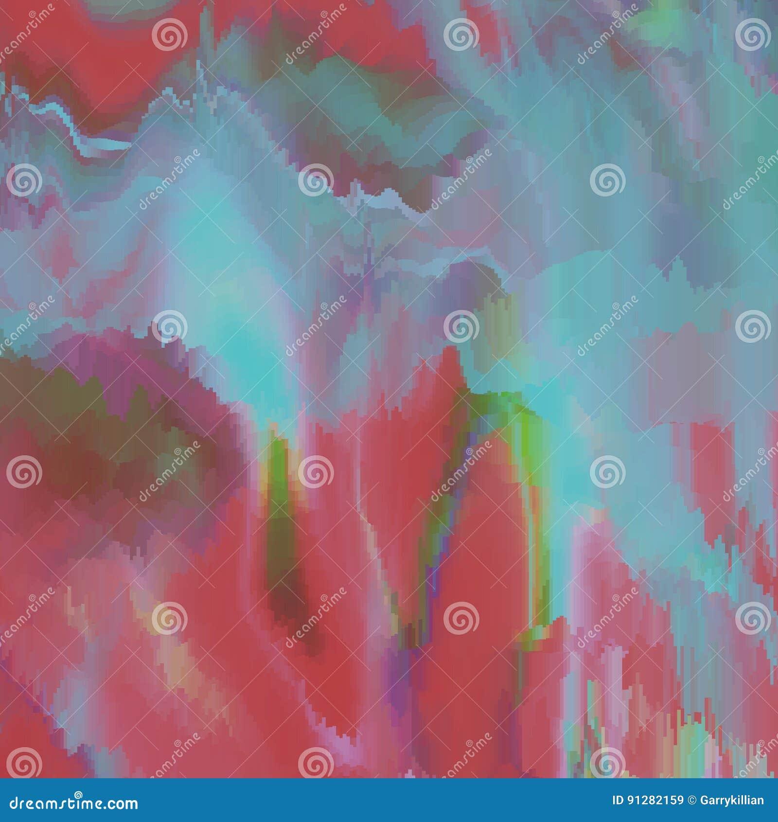 Fond de problème de vecteur Déformation de données d image numérique Fond abstrait coloré pour vos conceptions