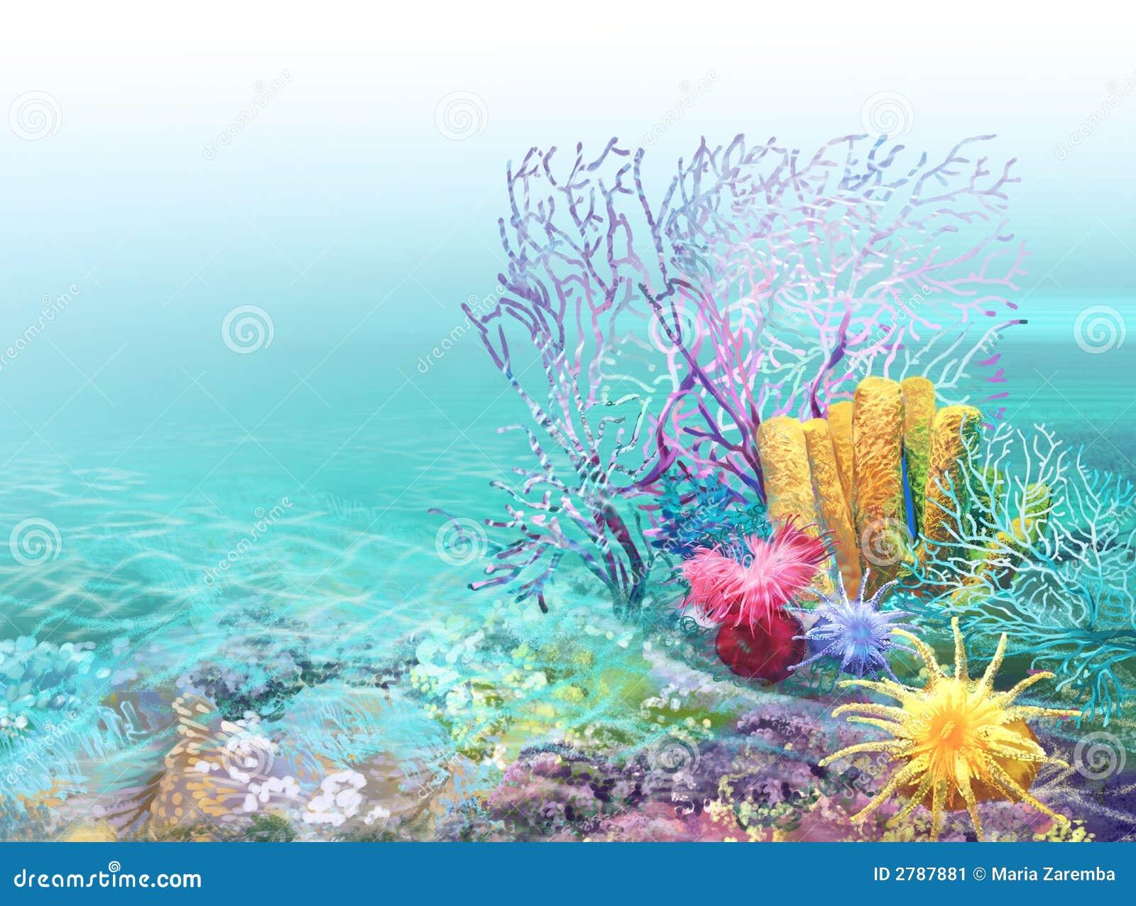 Fond de récif coralien