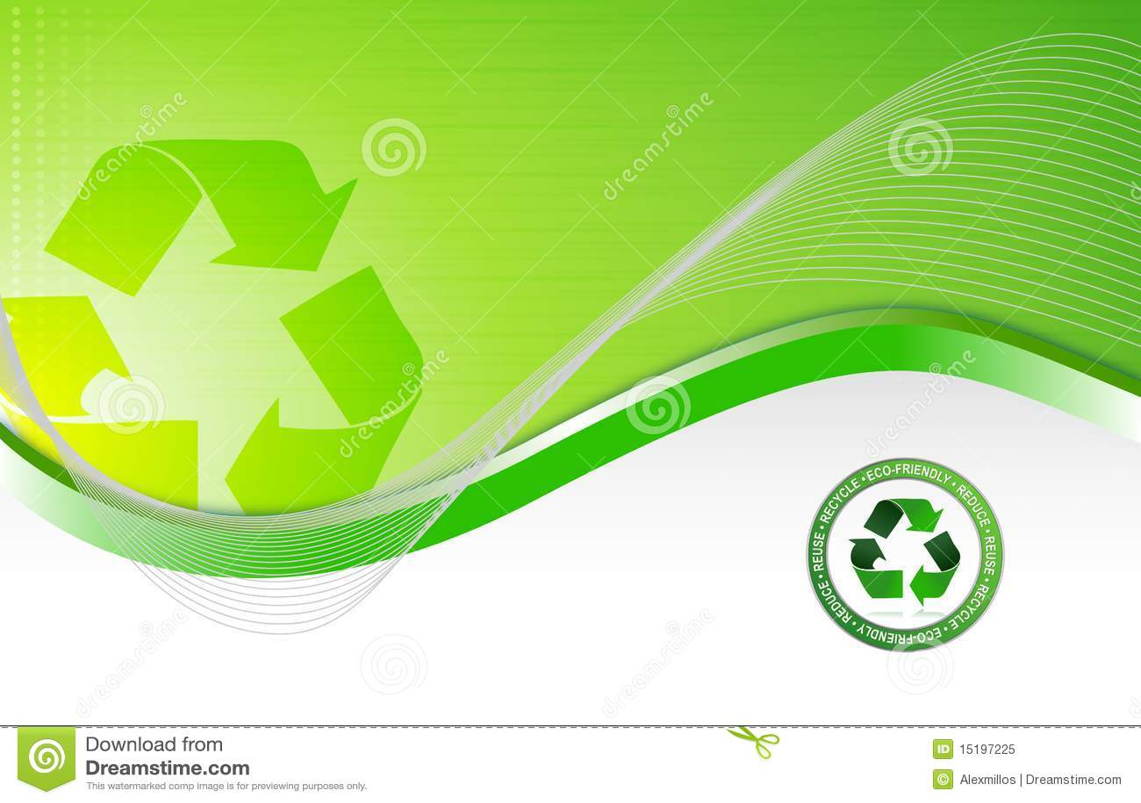 Fond de réutilisation environnemental vert
