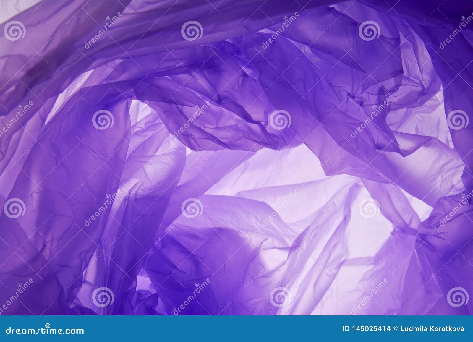 Fond de sachet en plastique Soulagement froiss? par couleur lilas synth?tique artificielle moderne Emballage chiffonn? approximat