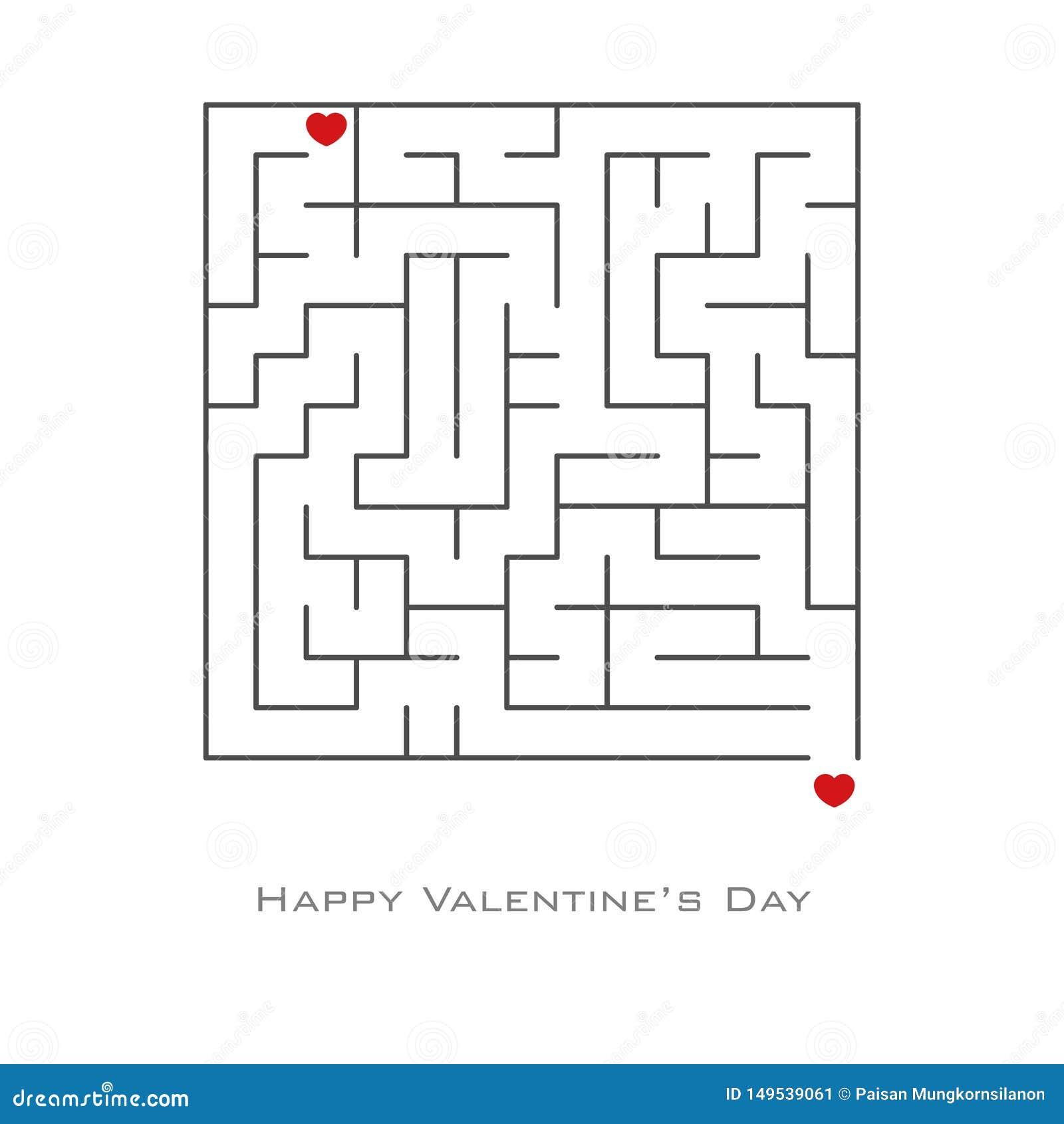 Fond de Saint-Valentin avec en forme de coeur dans le style de labyrinthe et de labyrinthe, insecte, invitation, affiches, brochu