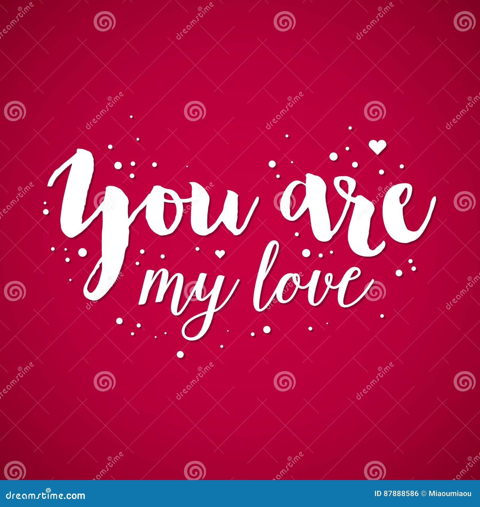 Fond De Saint Valentin Avec Le Texte Vous êtes Mon Amour
