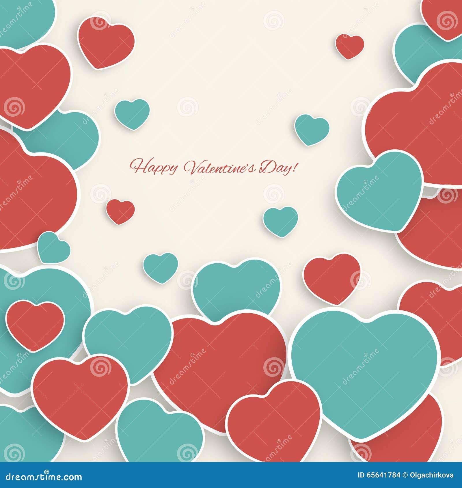 Fond de Saint-Valentin avec les coeurs de papier