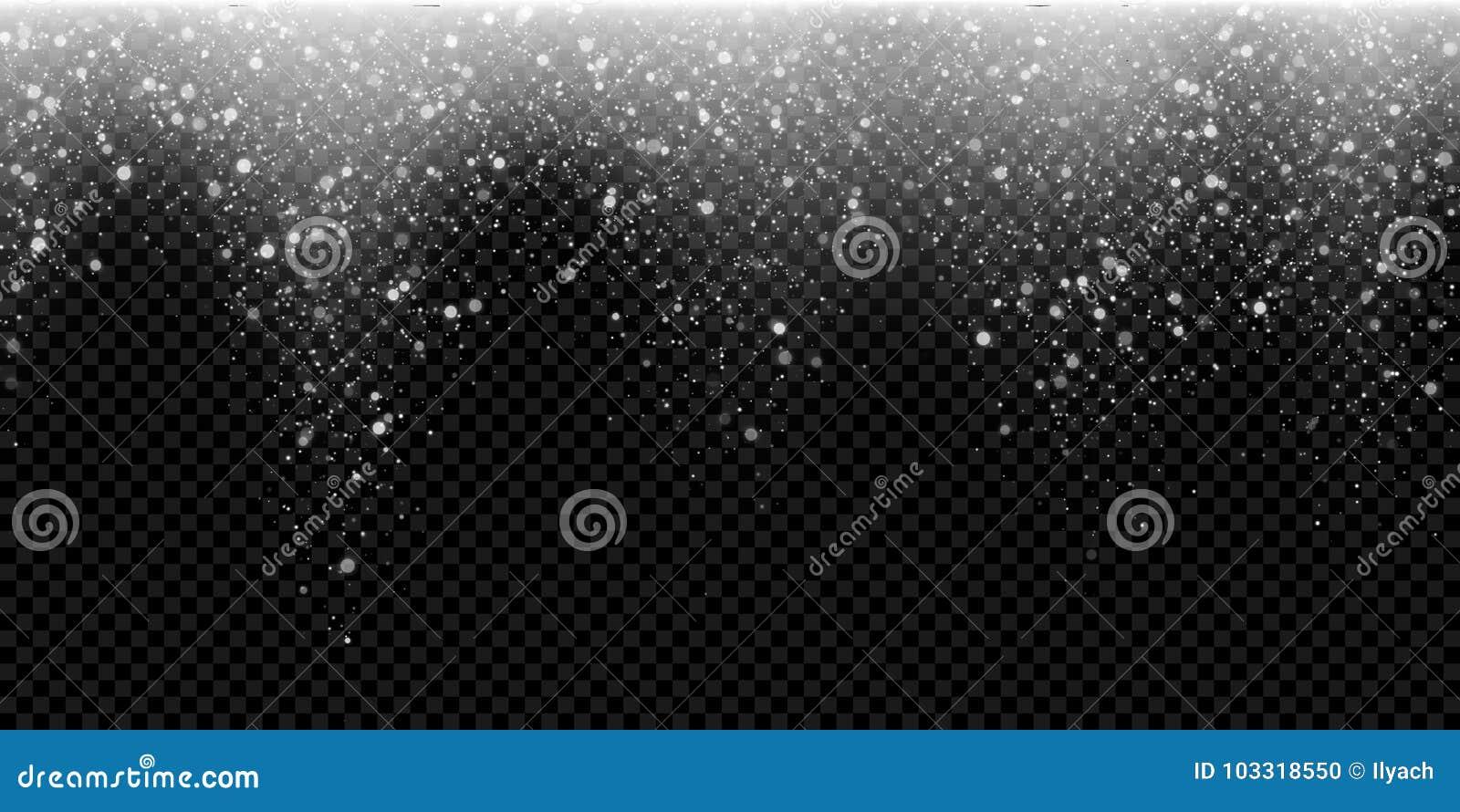 Fond de scintillement en baisse de vecteur de flocon de neige de neige de lumière d hiver de scintillement de Noël éclatant de pa