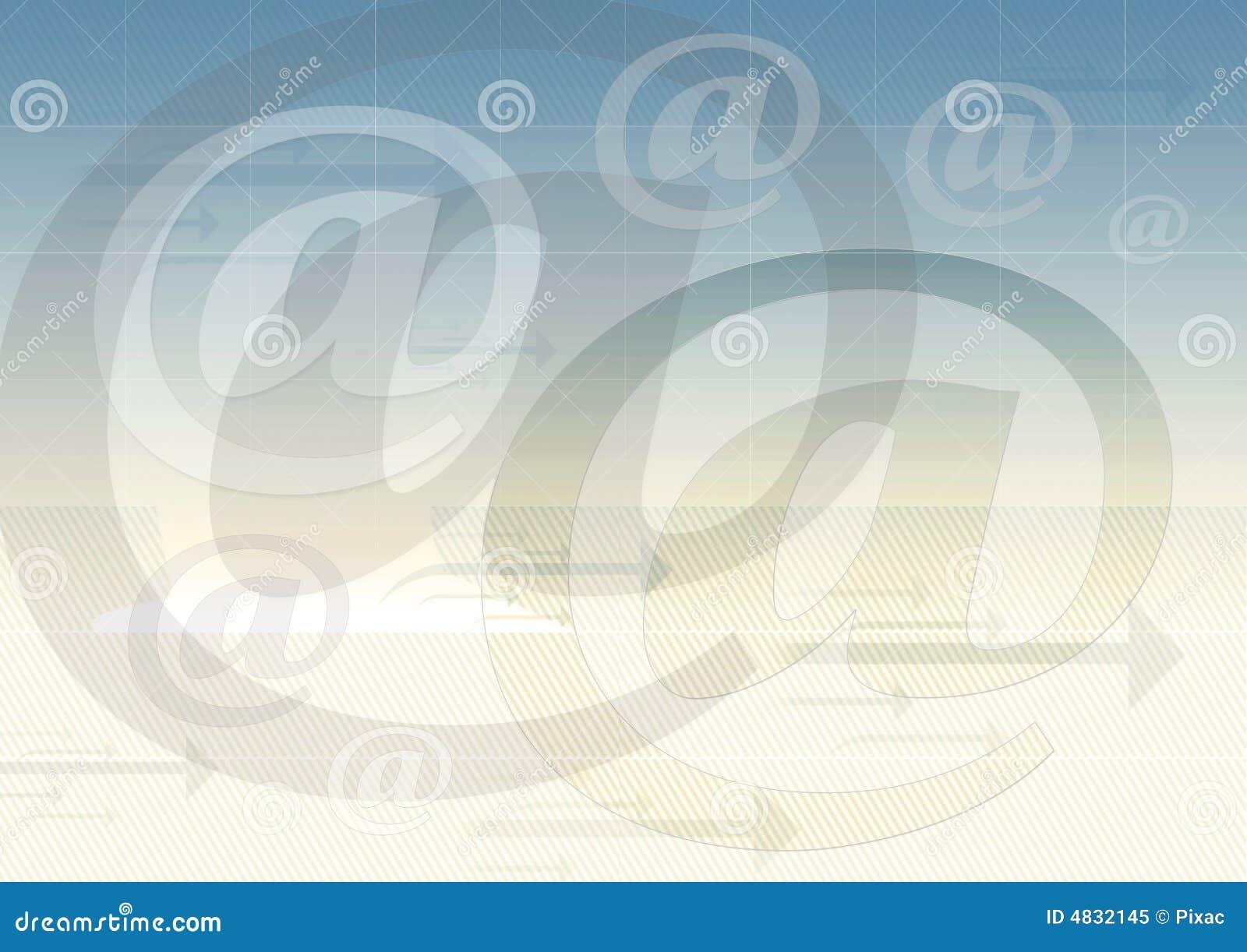 Fond de symbole d email