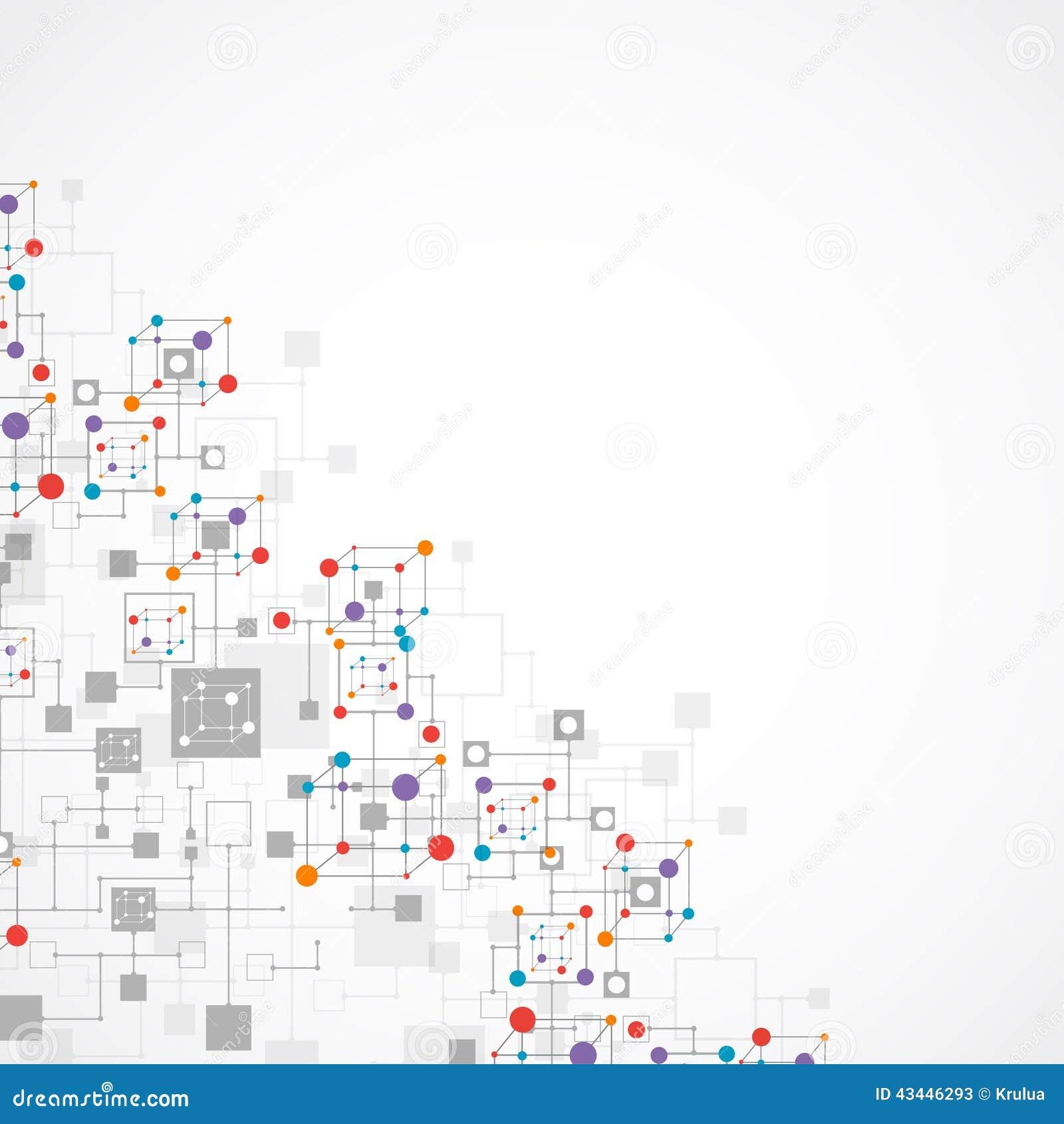 Fond de technologie de couleur de réseau