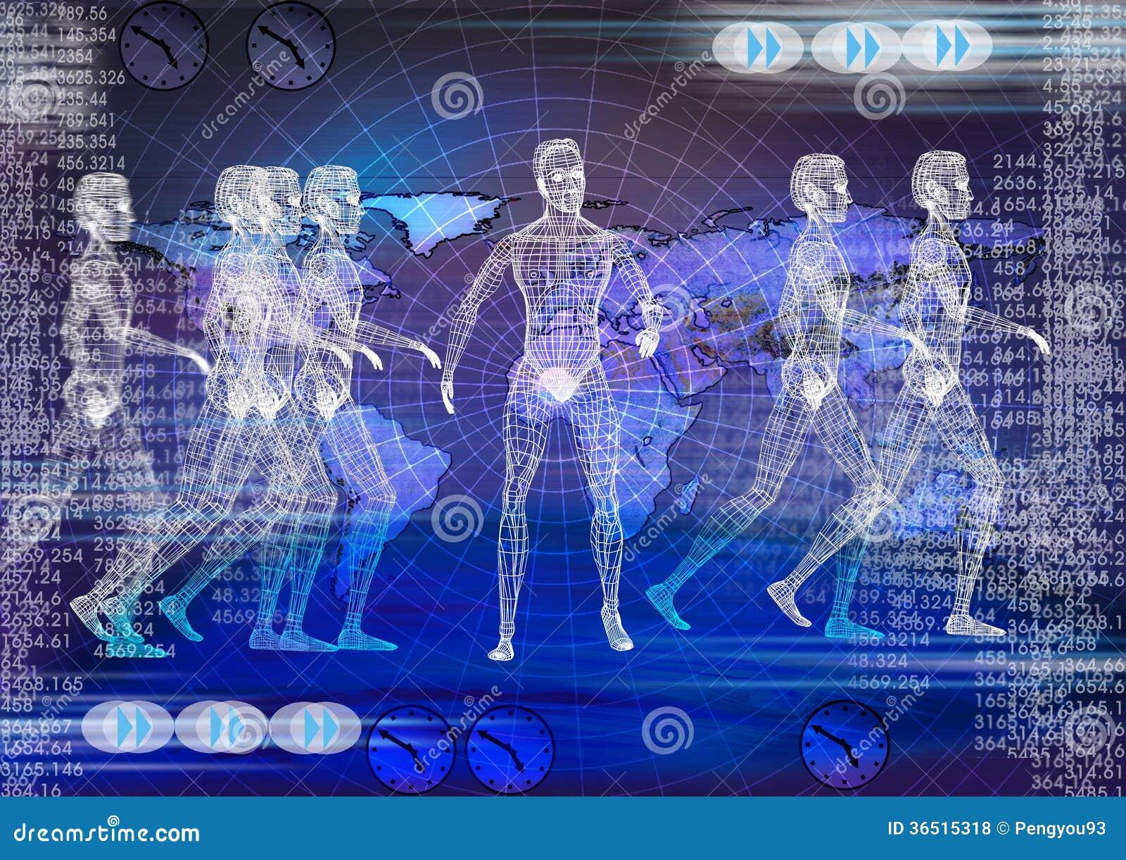Fond de technologie. Technologie électronique biomédicale