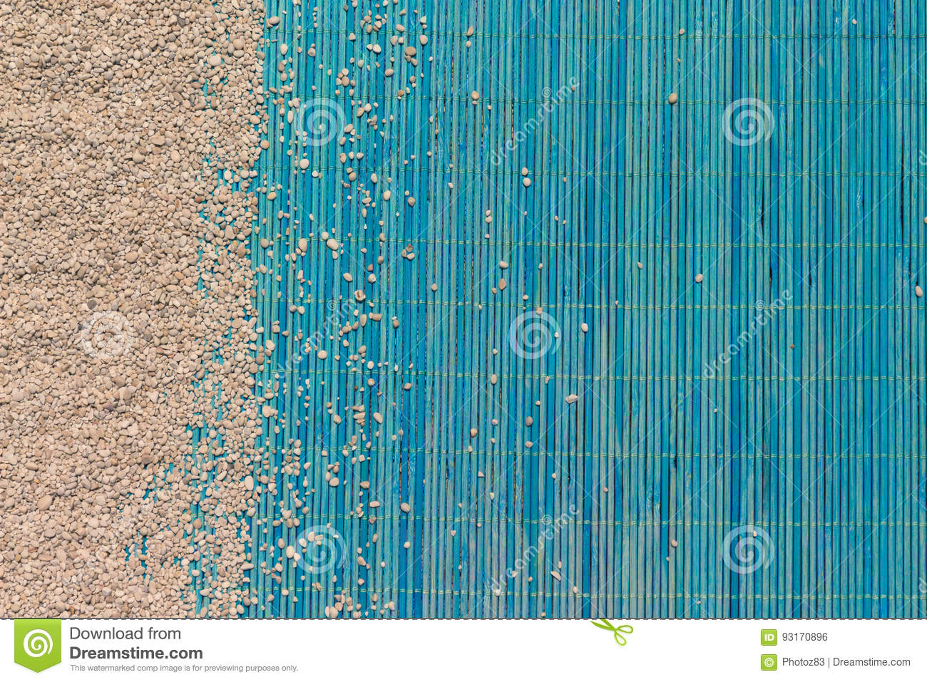 Fond De Texture De Tapis De Sable Et De Bambou Photo Stock Image