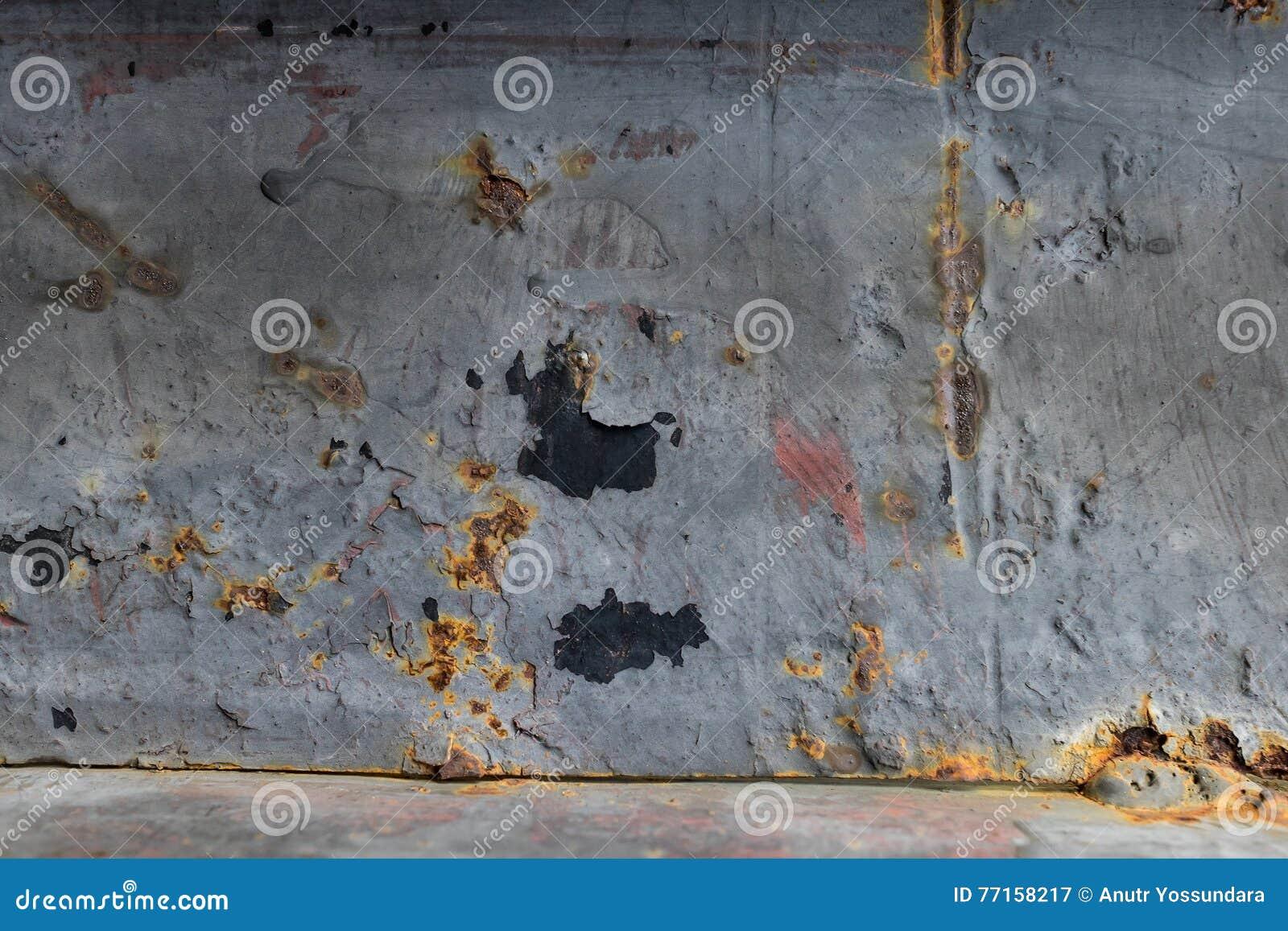 Fond de texture endommagé par plaque de métal rustique