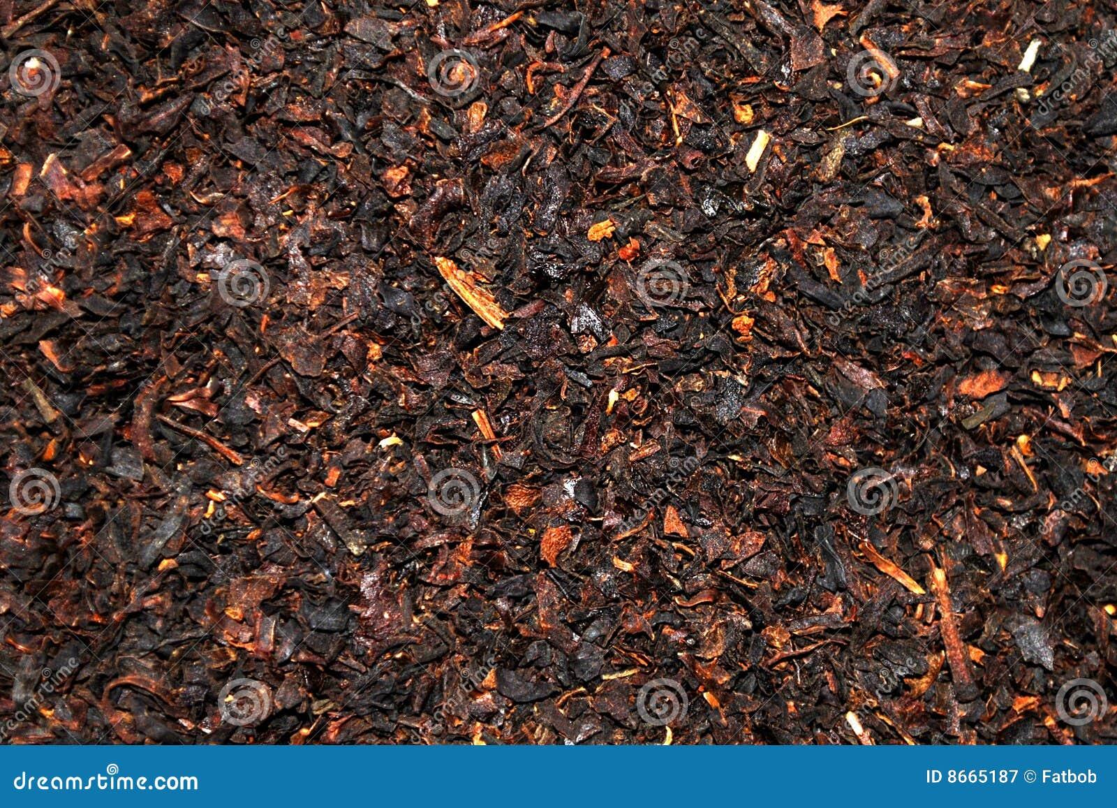 Fond de thé de feuilles mobiles