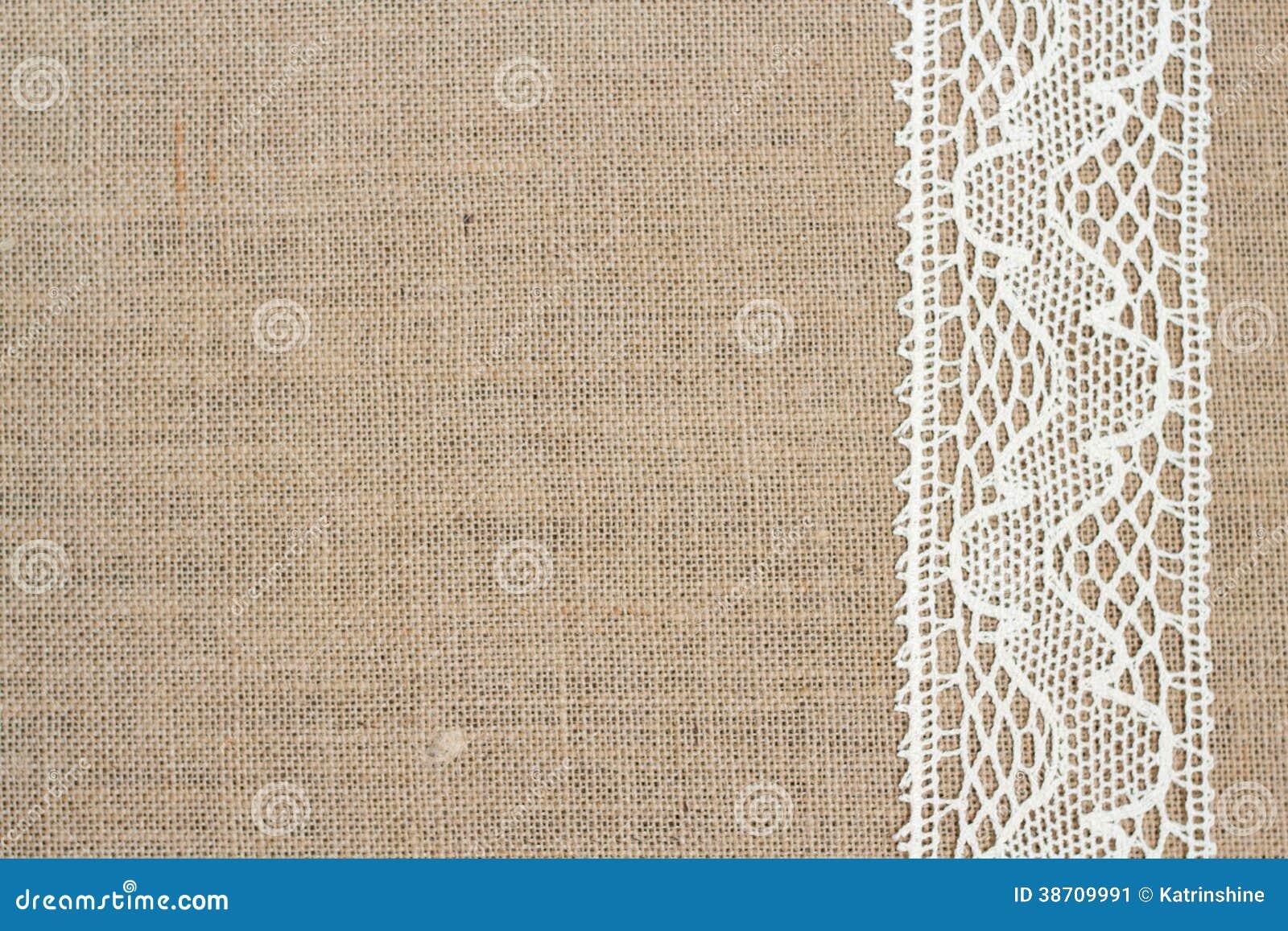 fond de toile de jute image stock image du lacy campagne. Black Bedroom Furniture Sets. Home Design Ideas
