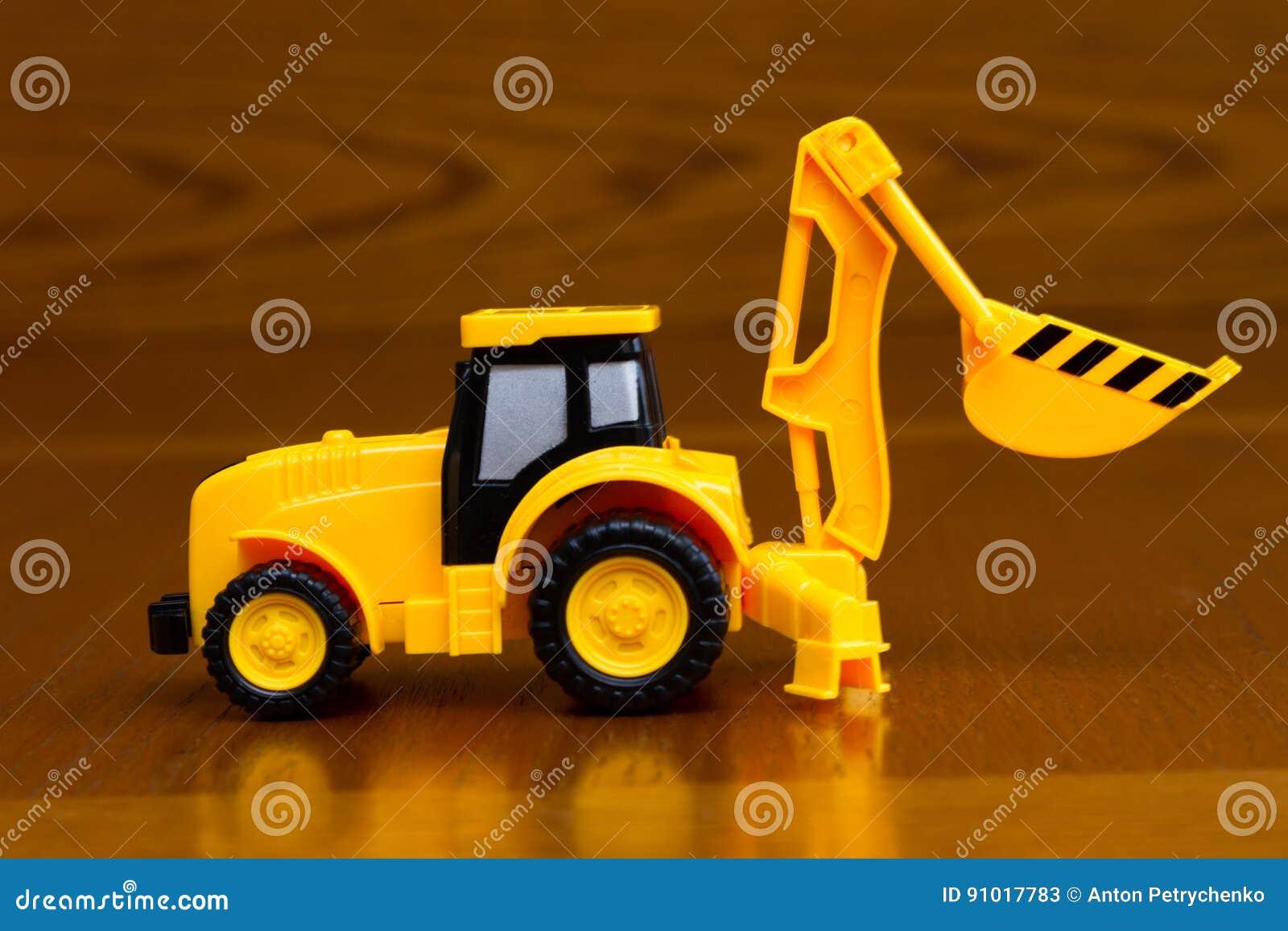 Fond de tracteur de construction de jouet