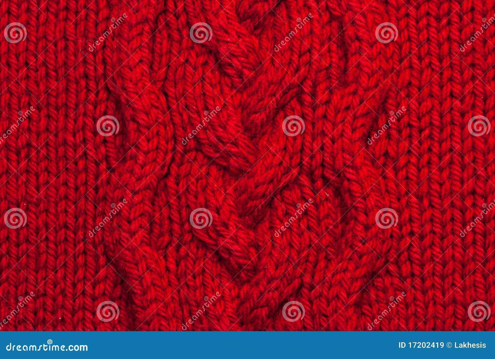 Fond de tricotage rouge