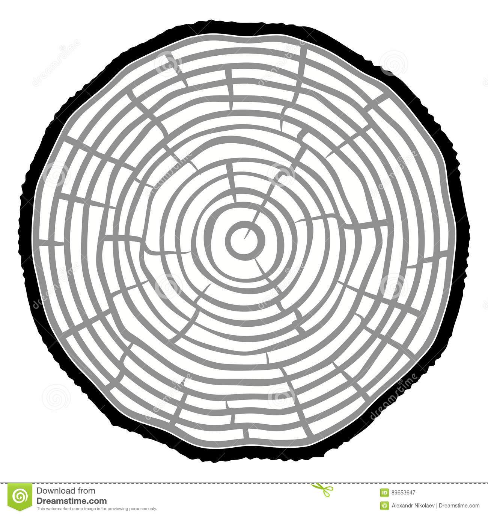 Fond de tronc d arbre de coupe de scie d anneaux d arbre Illustration de vecteur