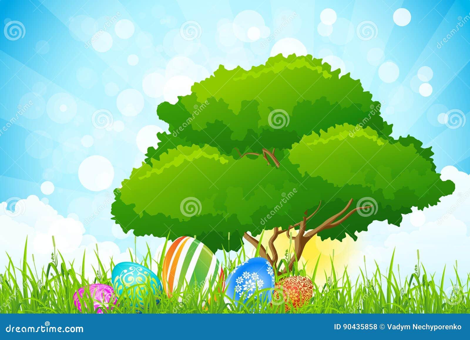 Fond de vacances de Pâques