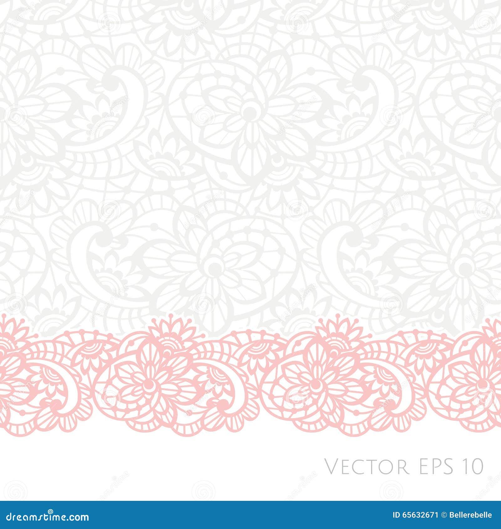 Fond de vecteur avec la dentelle florale