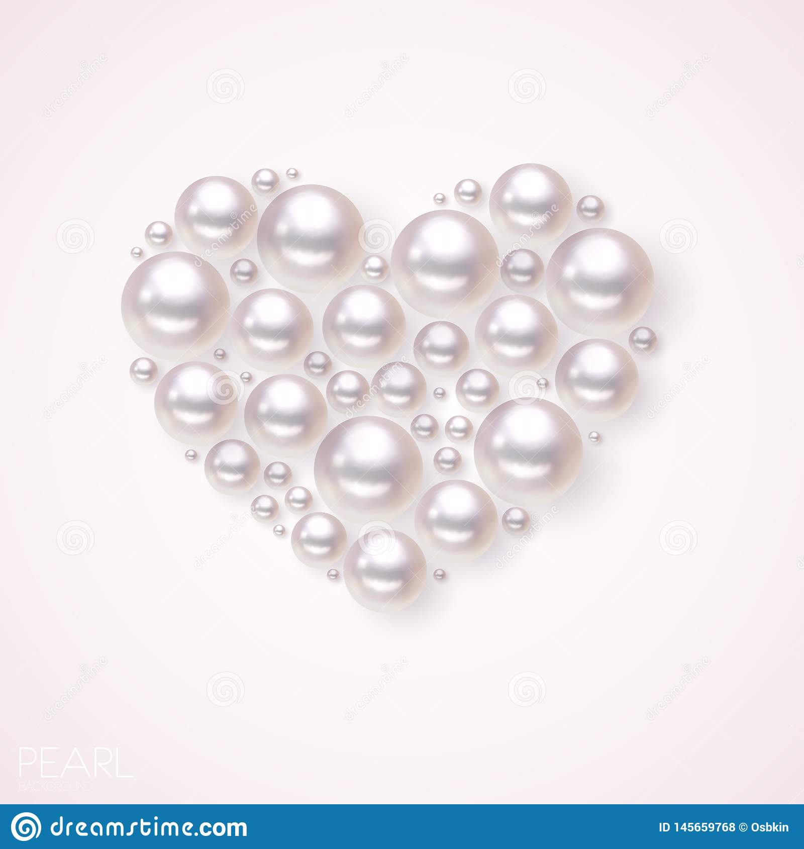 Fond de vecteur de coeur de perle