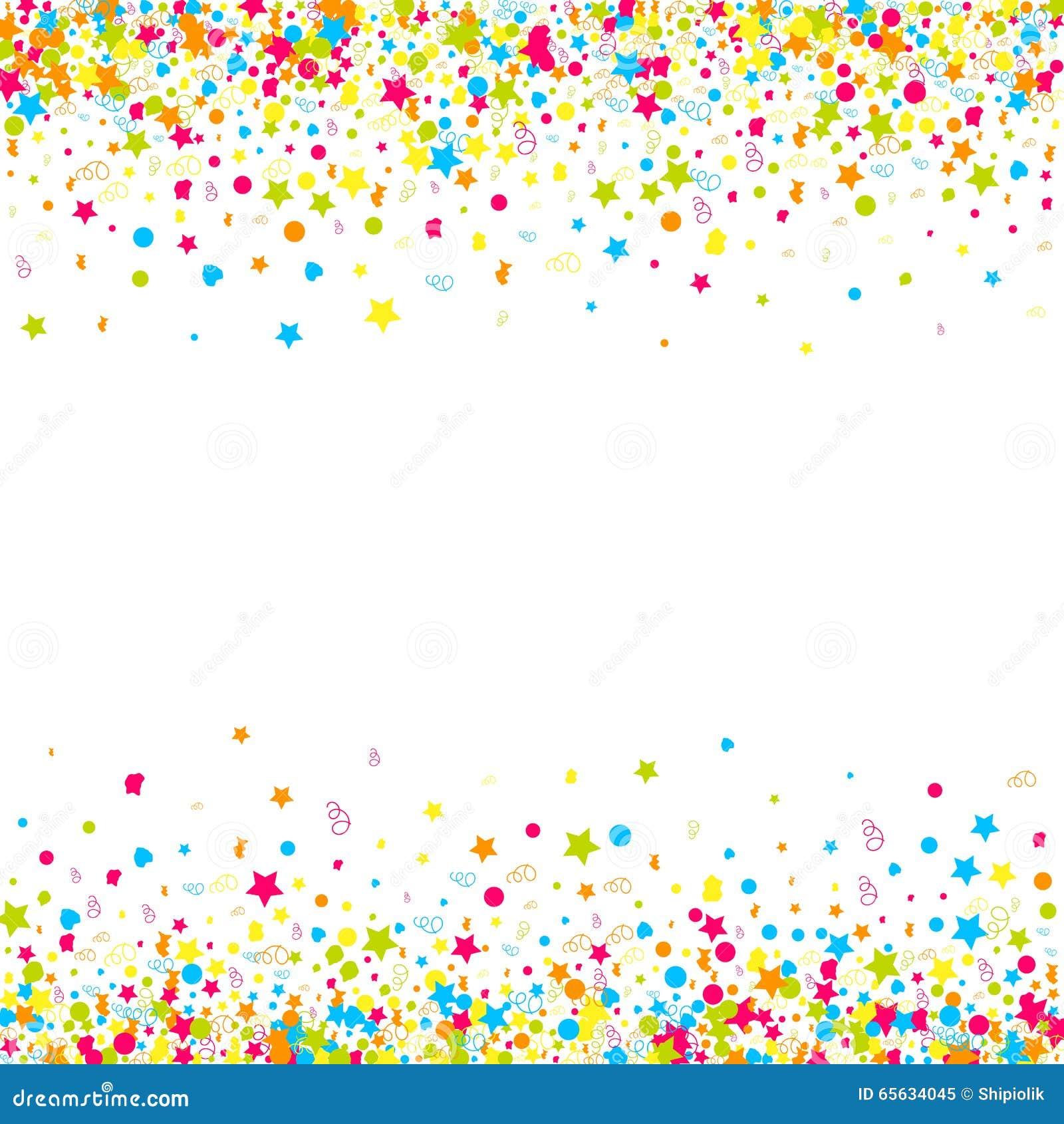 Fond de vecteur de confettis