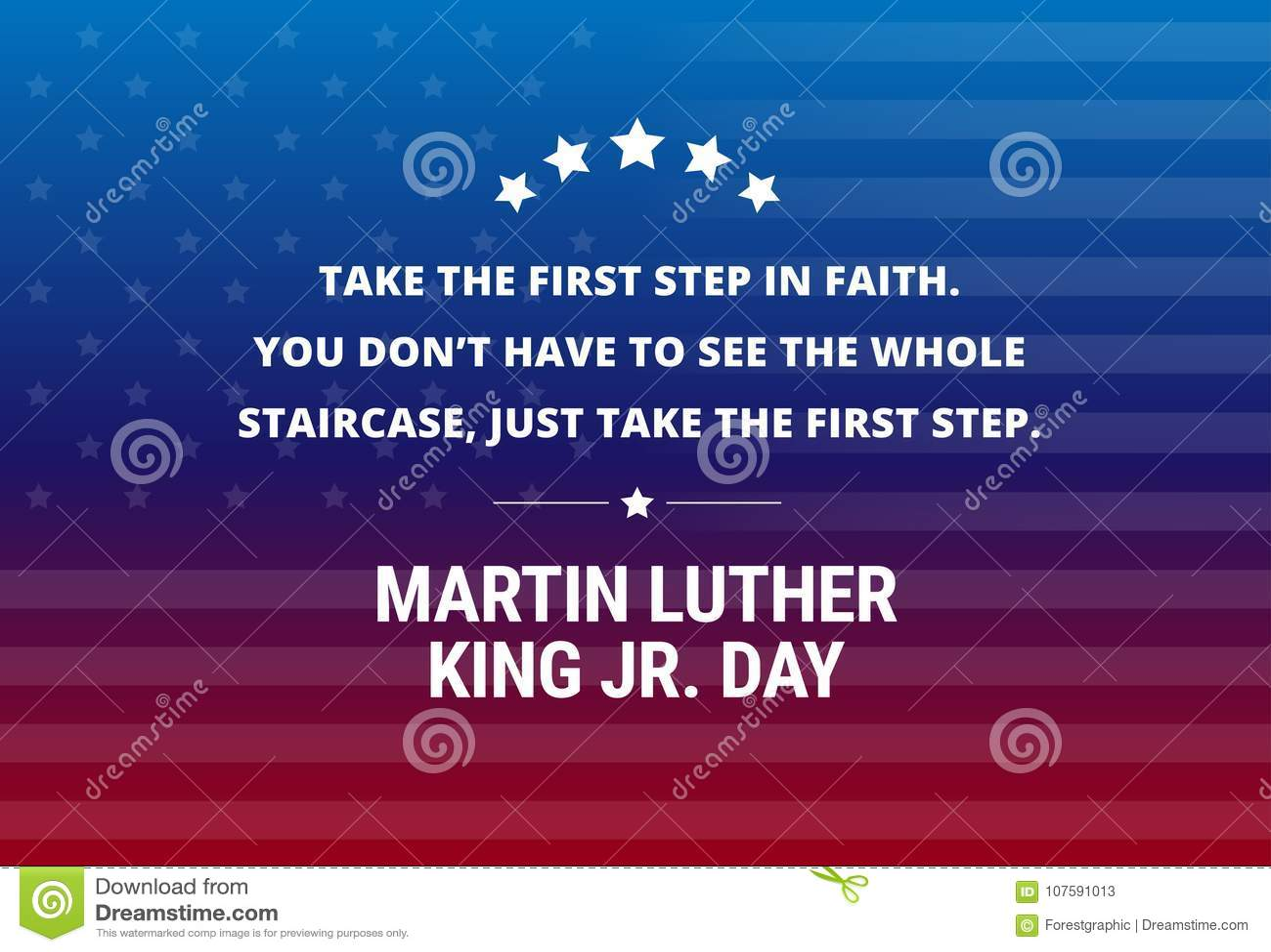 Fond de vecteur de vacances de Martin Luther King Jr Day - citation inspirée