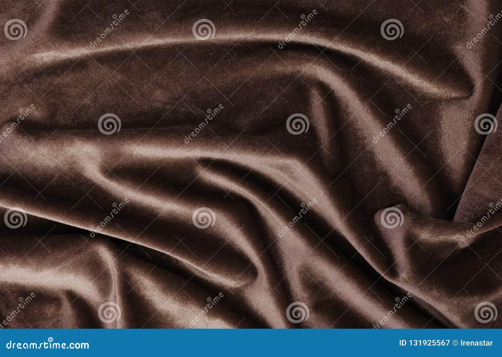 Fond de velours, texture, couleur brune, luxe cher, tissu,