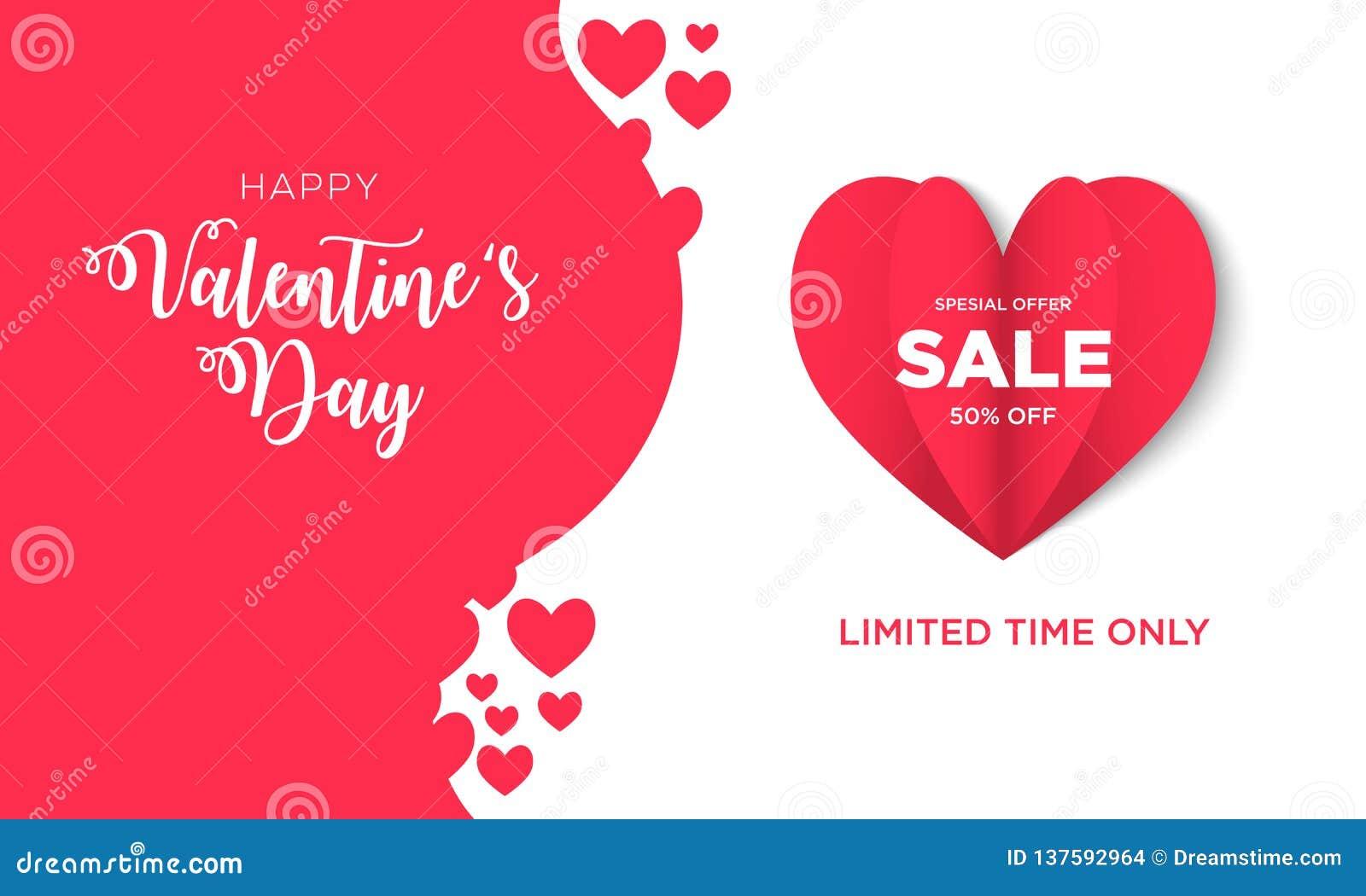 Fond de vente de jour de valentines avec en forme de coeur