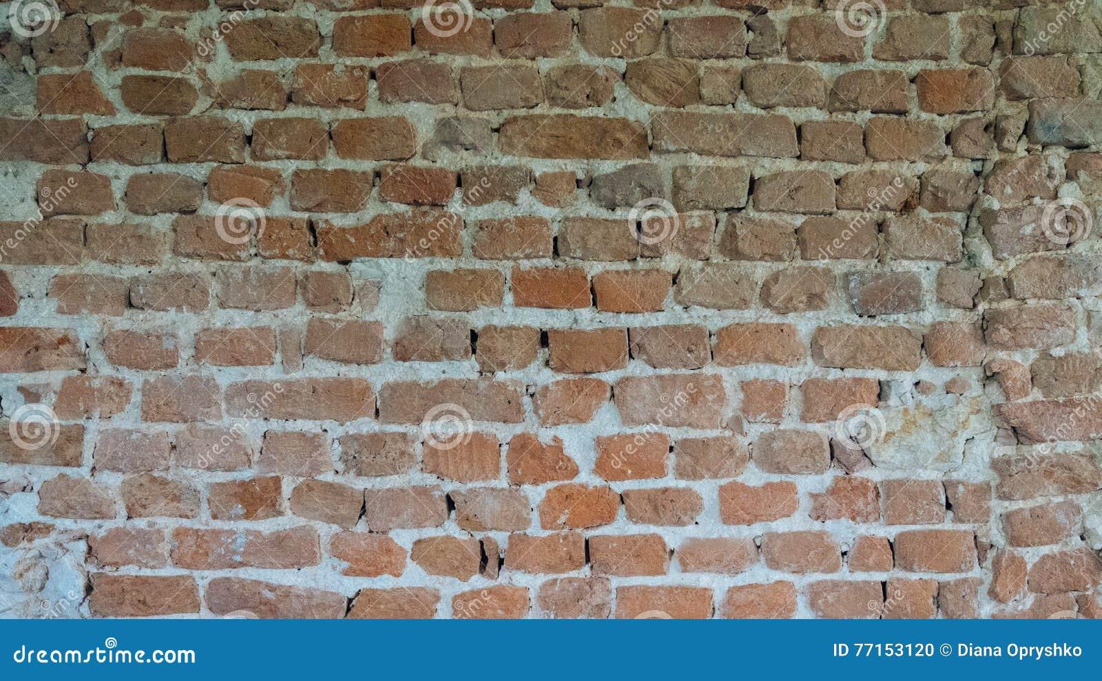Fond de vieux mur de briques de vintage