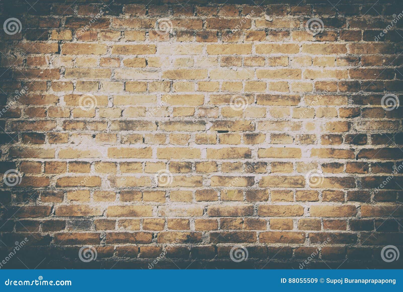 Fond de vieux papier peint sale de texture de brique de mur