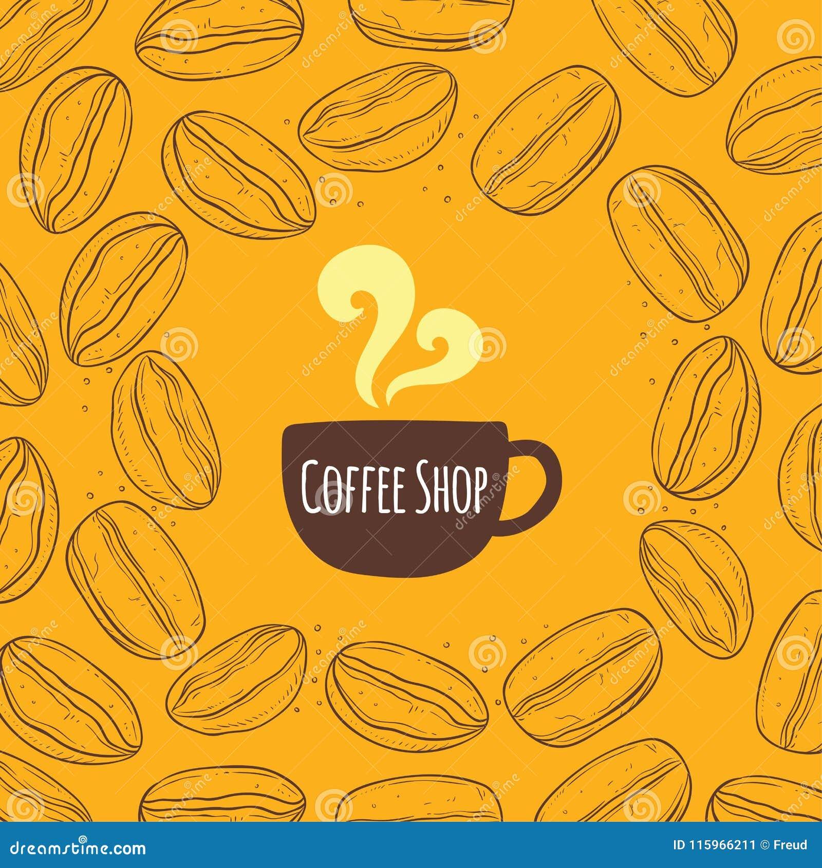 Fond de vintage de café