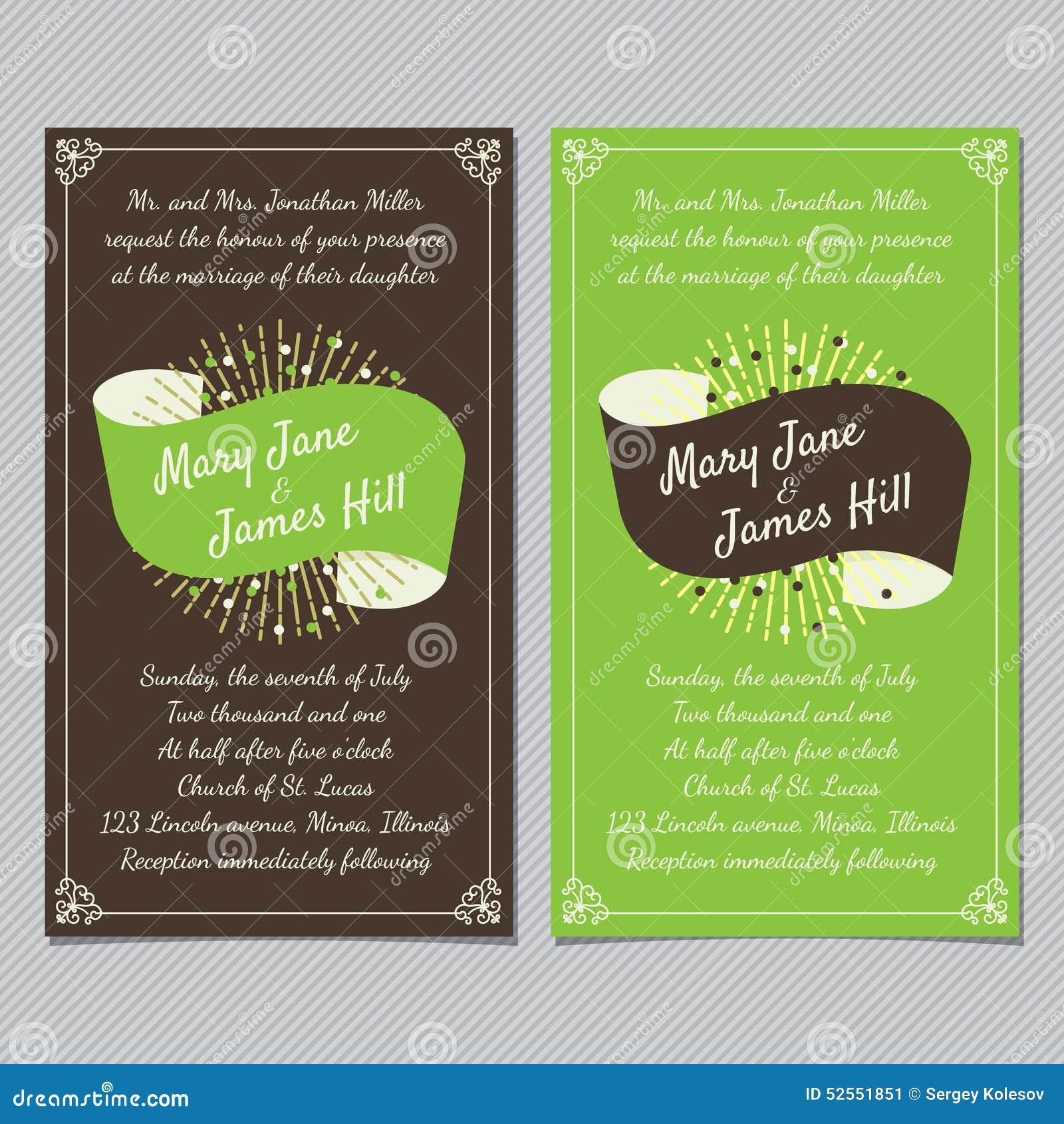 Fond de vintage de vecteur de calibre de carte d invitation de mariage Retr