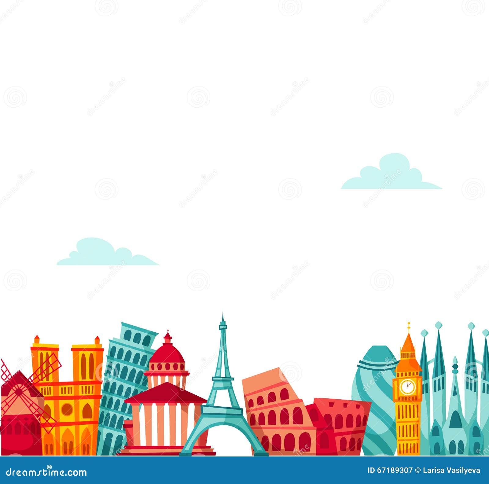 Fond de voyage de l Europe