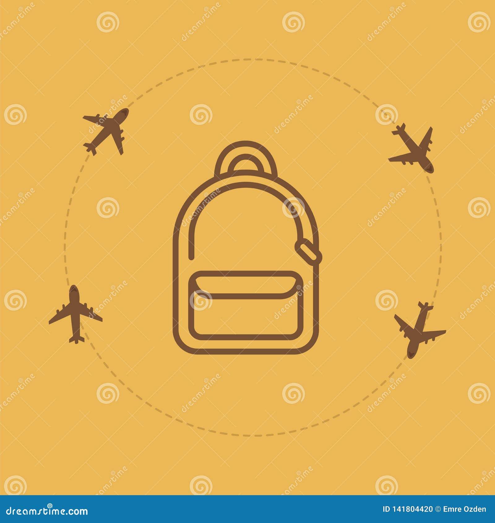 Fond de voyage de sac