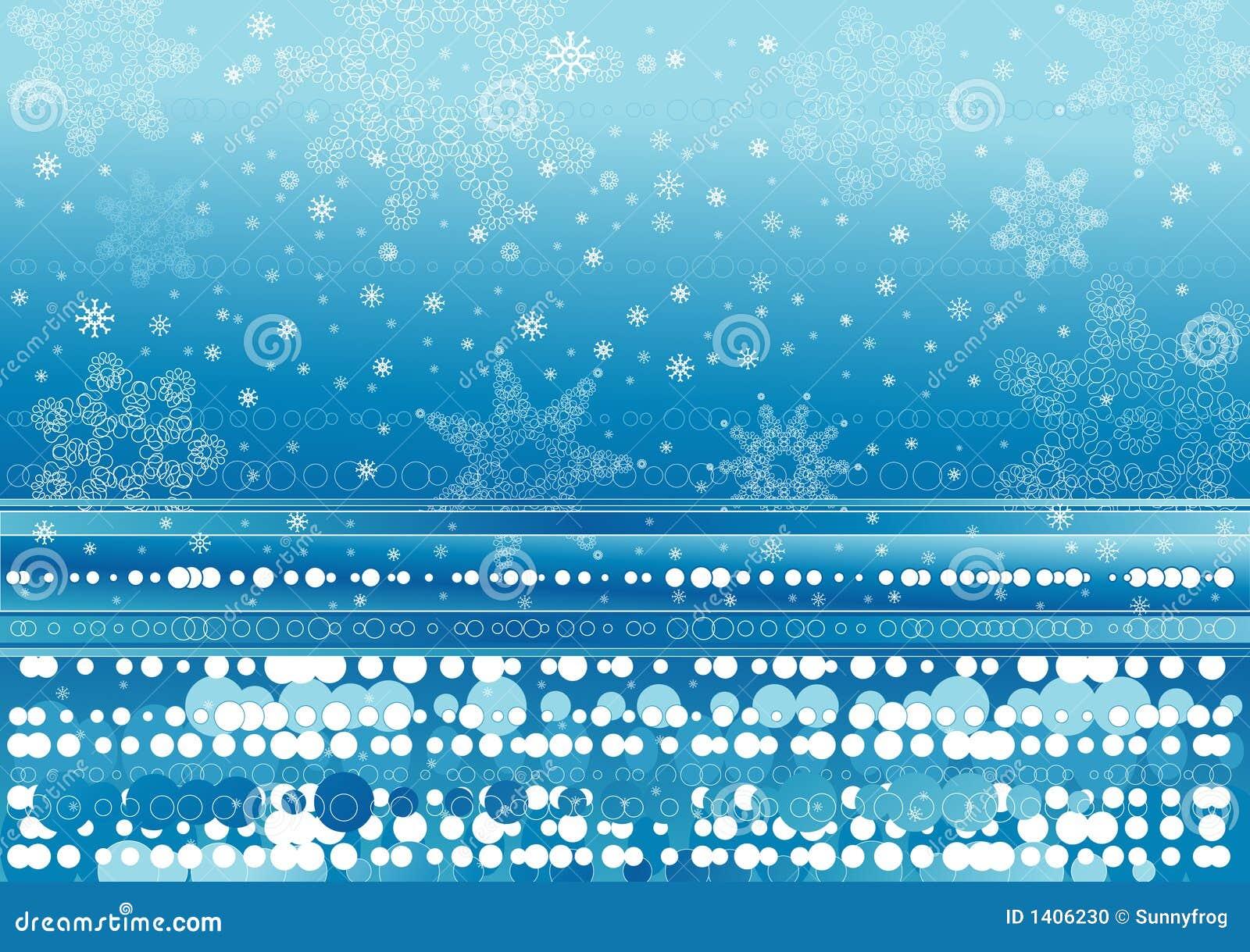 Fond des flocons de neige