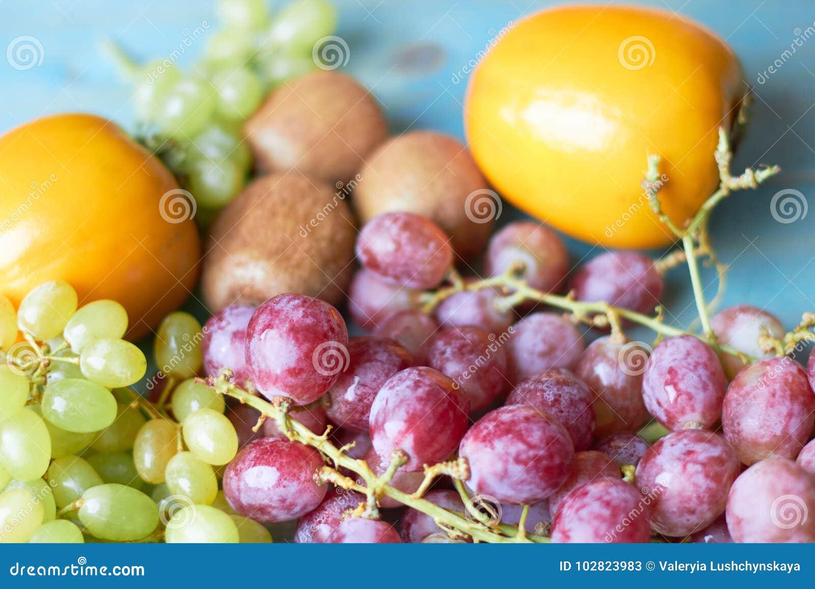 Fond des fruits juteux